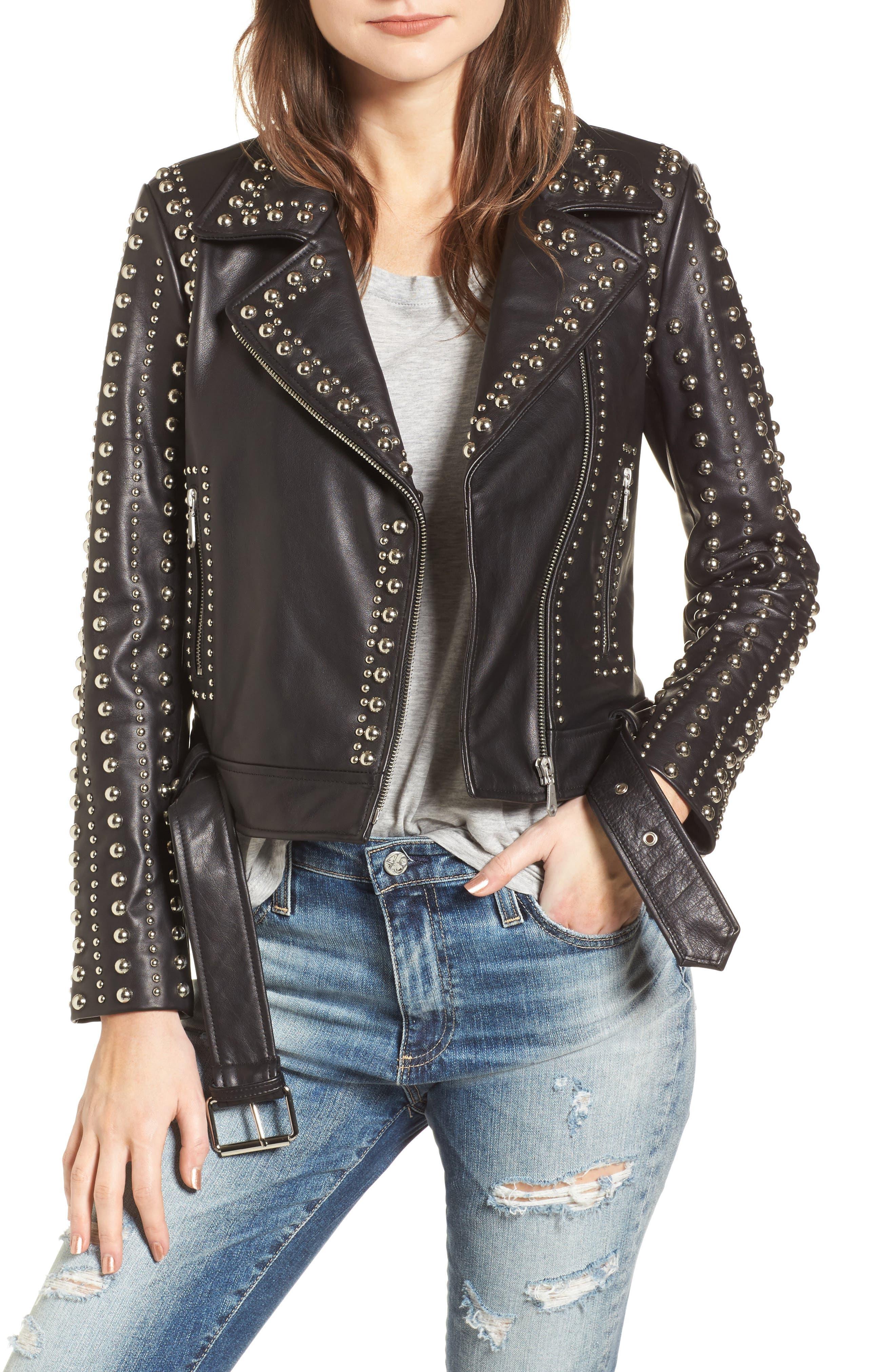 Alternate Image 1 Selected - Rebecca Minkoff Adelia Leather Moto Jacket