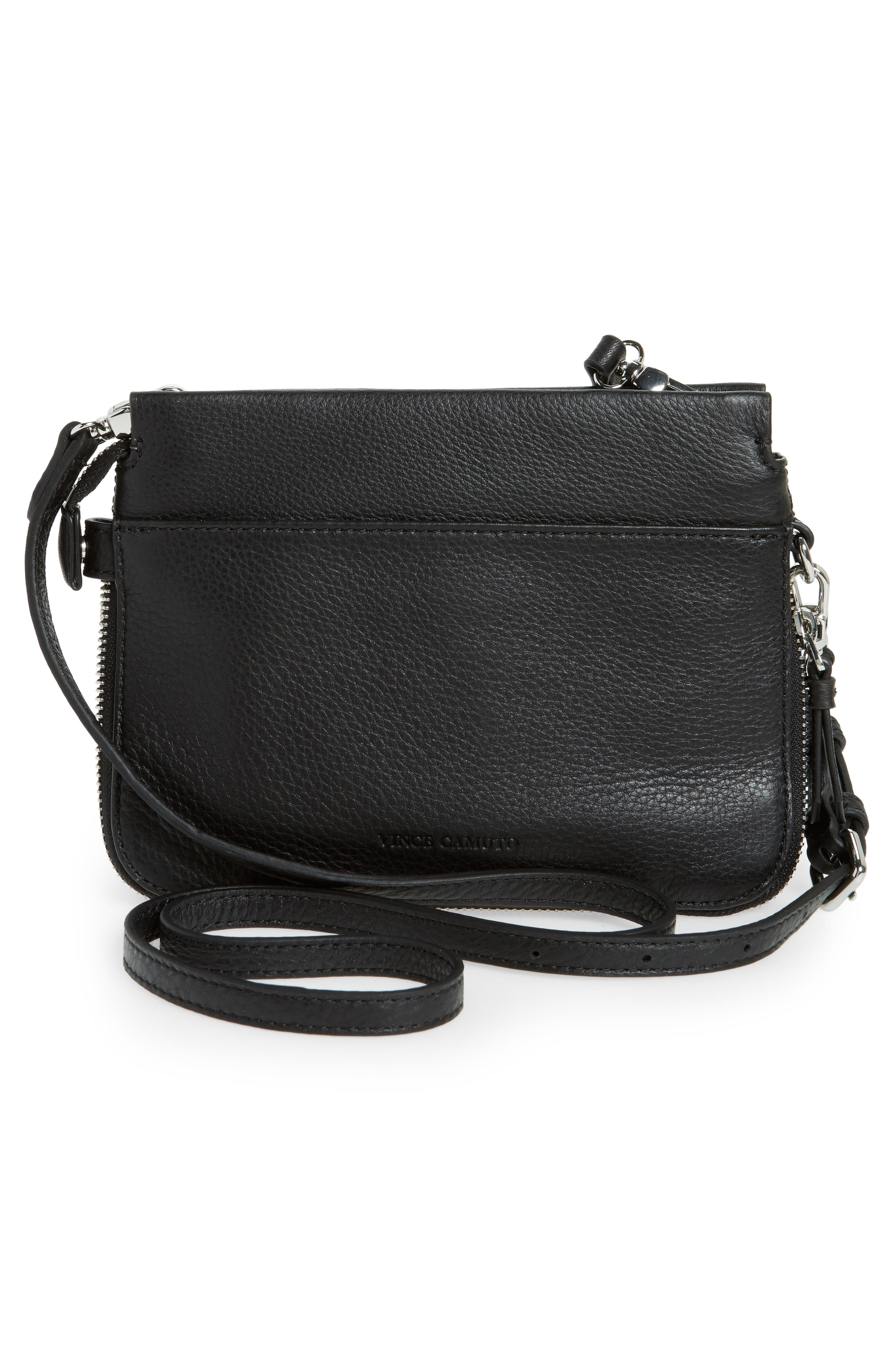 Small Edsel Leather Crossbody Bag,                             Alternate thumbnail 3, color,                             Nero