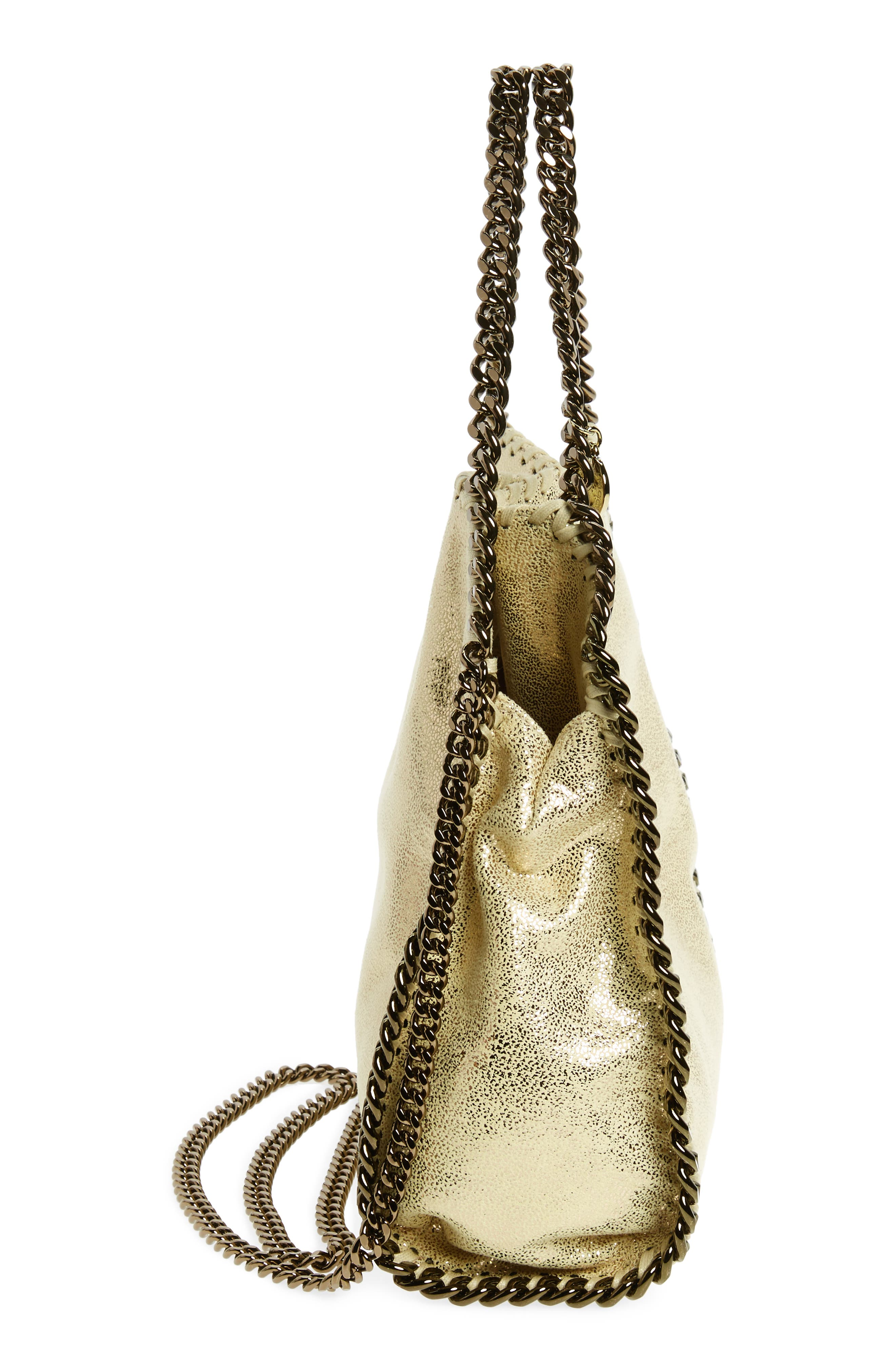 Alternate Image 5  - Stella McCartney Mini Falabella Shaggy Deer Metallic Faux Leather Tote