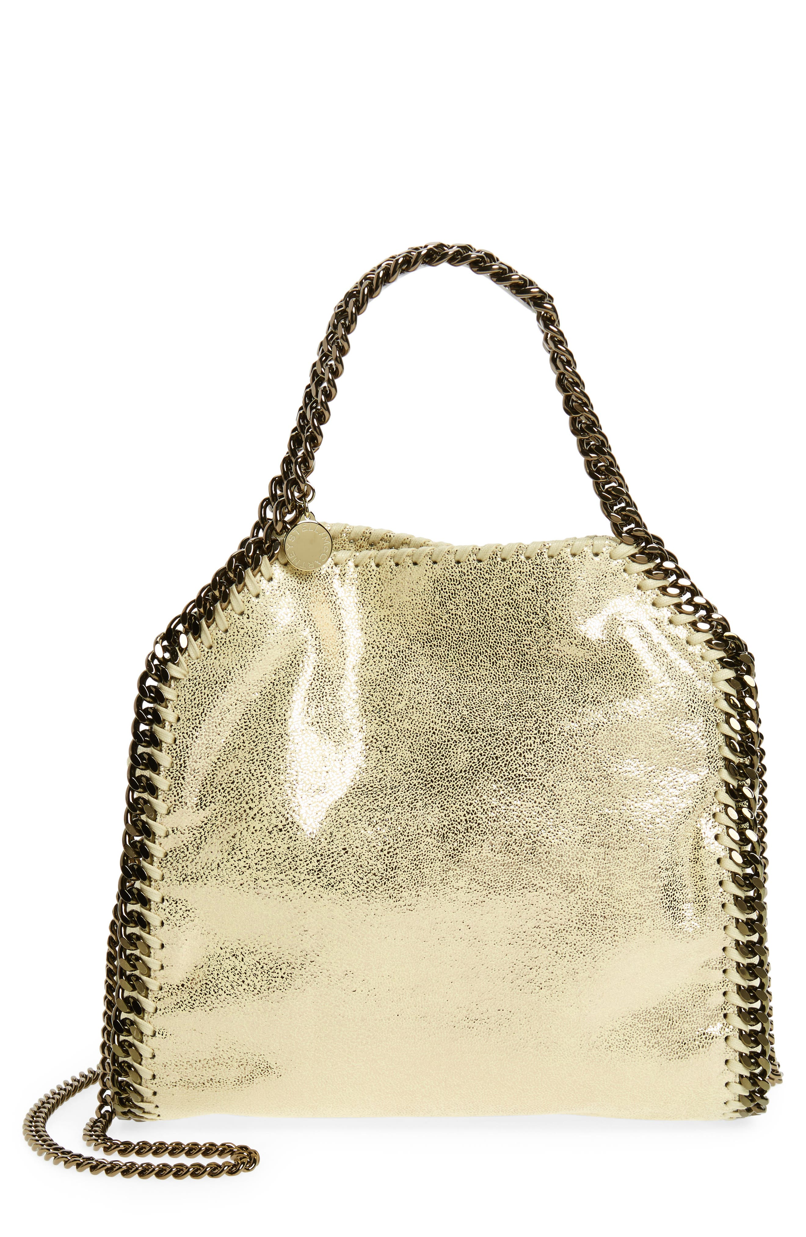 Main Image - Stella McCartney Mini Falabella Shaggy Deer Metallic Faux Leather Tote