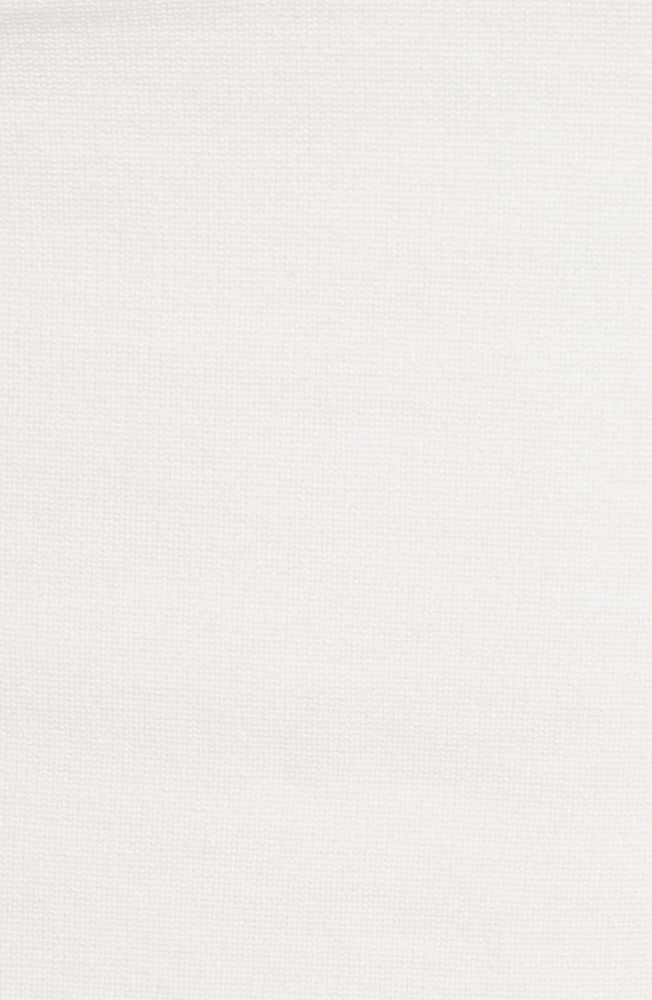 One-Shoulder Jersey Top,                             Alternate thumbnail 6, color,                             Black/ Ivory