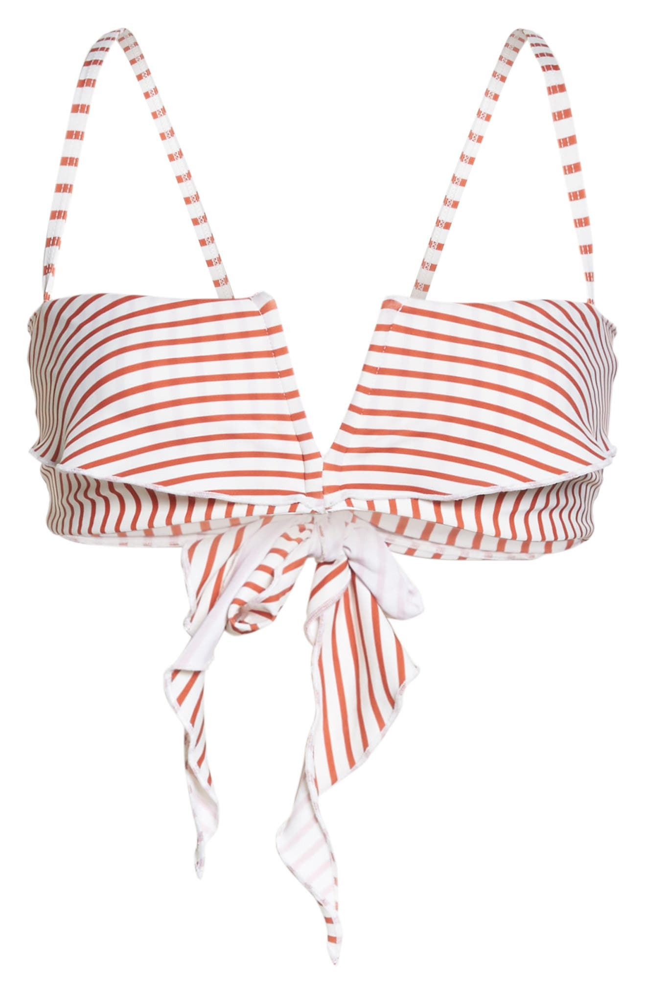 Coco Notch Front Bikini Top,                             Alternate thumbnail 6, color,                             Red Stripe