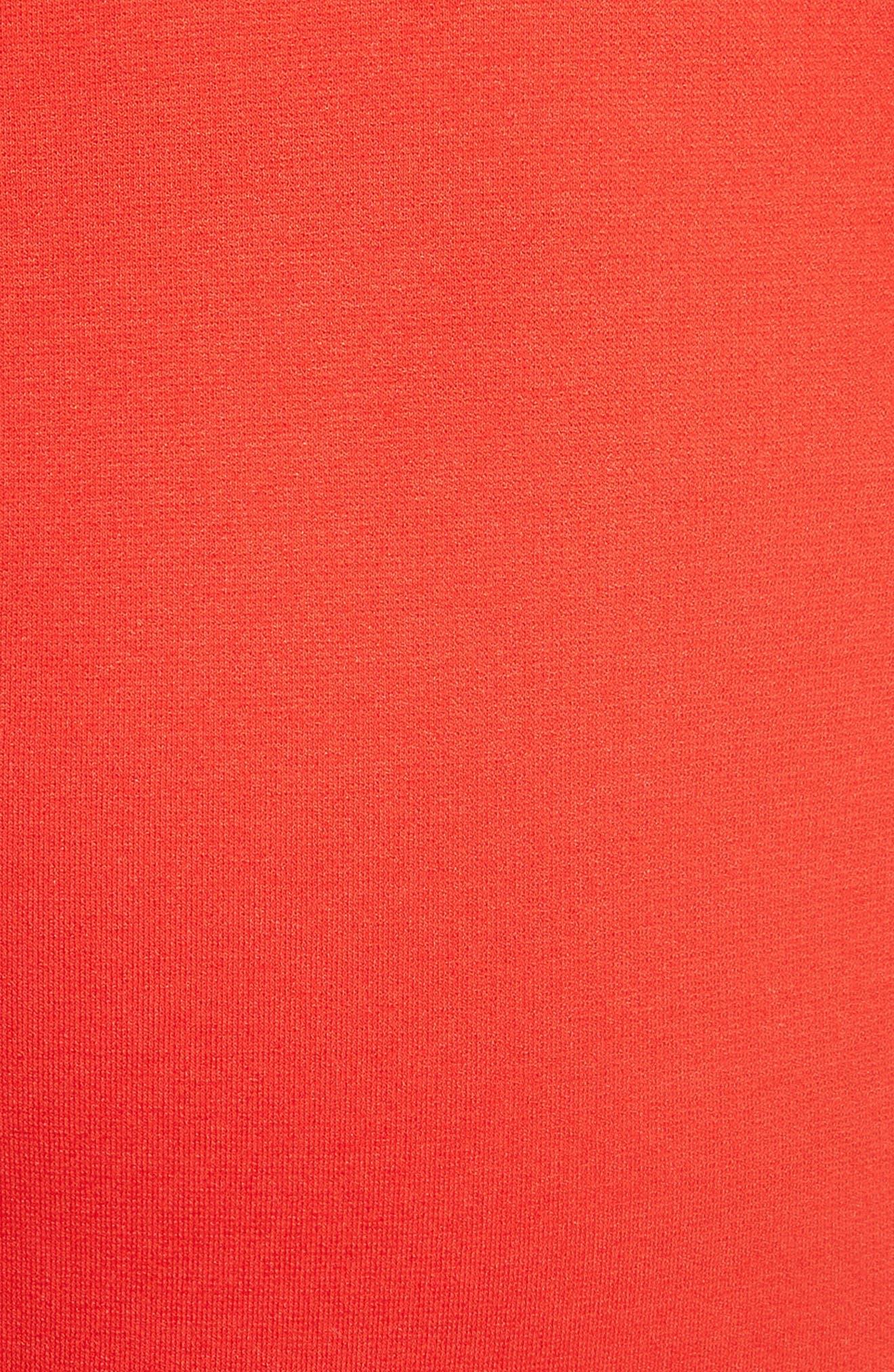Crossback Sheath Dress,                             Alternate thumbnail 5, color,                             Scarlet