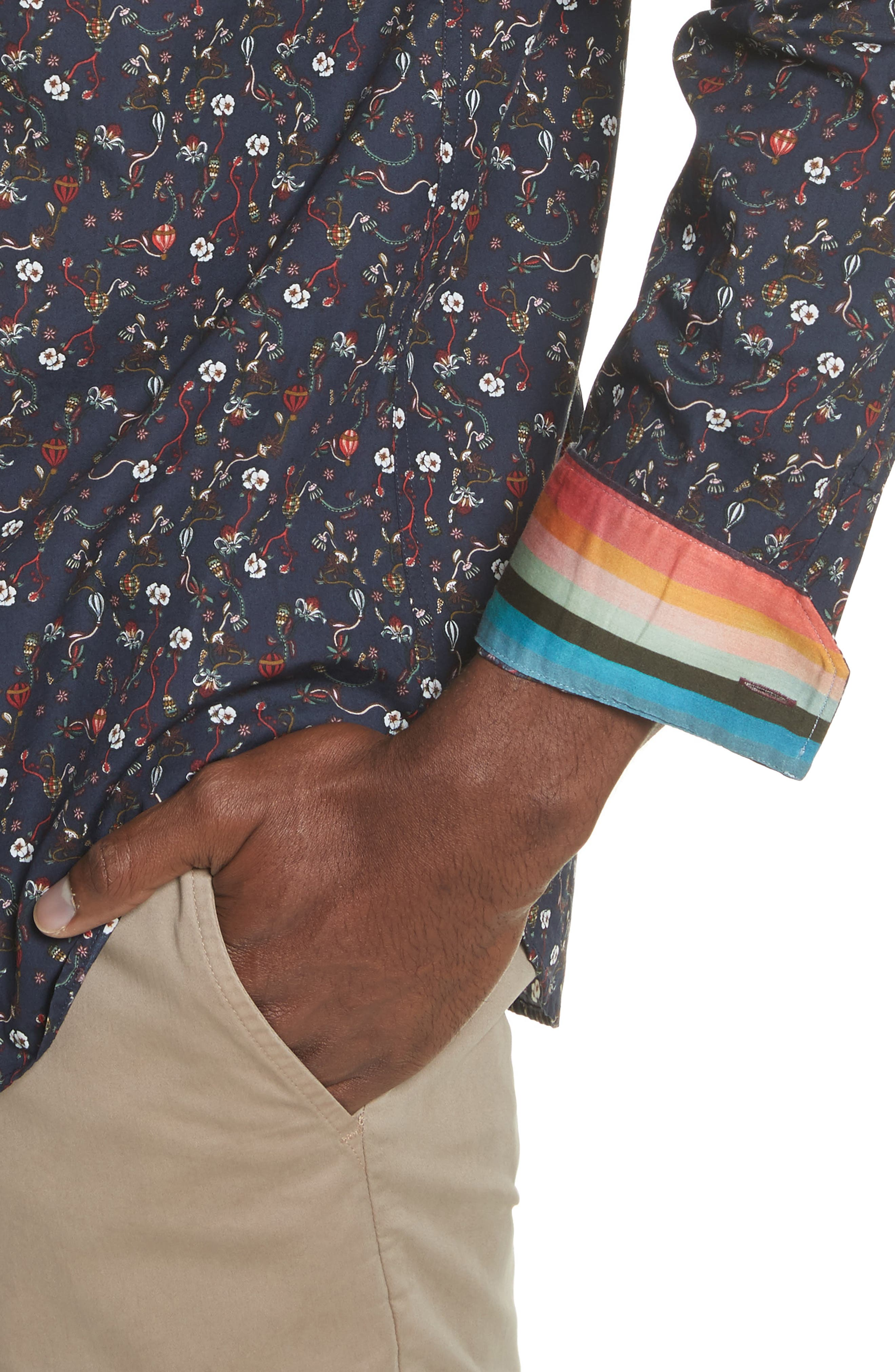Alternate Image 4  - Paul Smith Floral Print Shirt