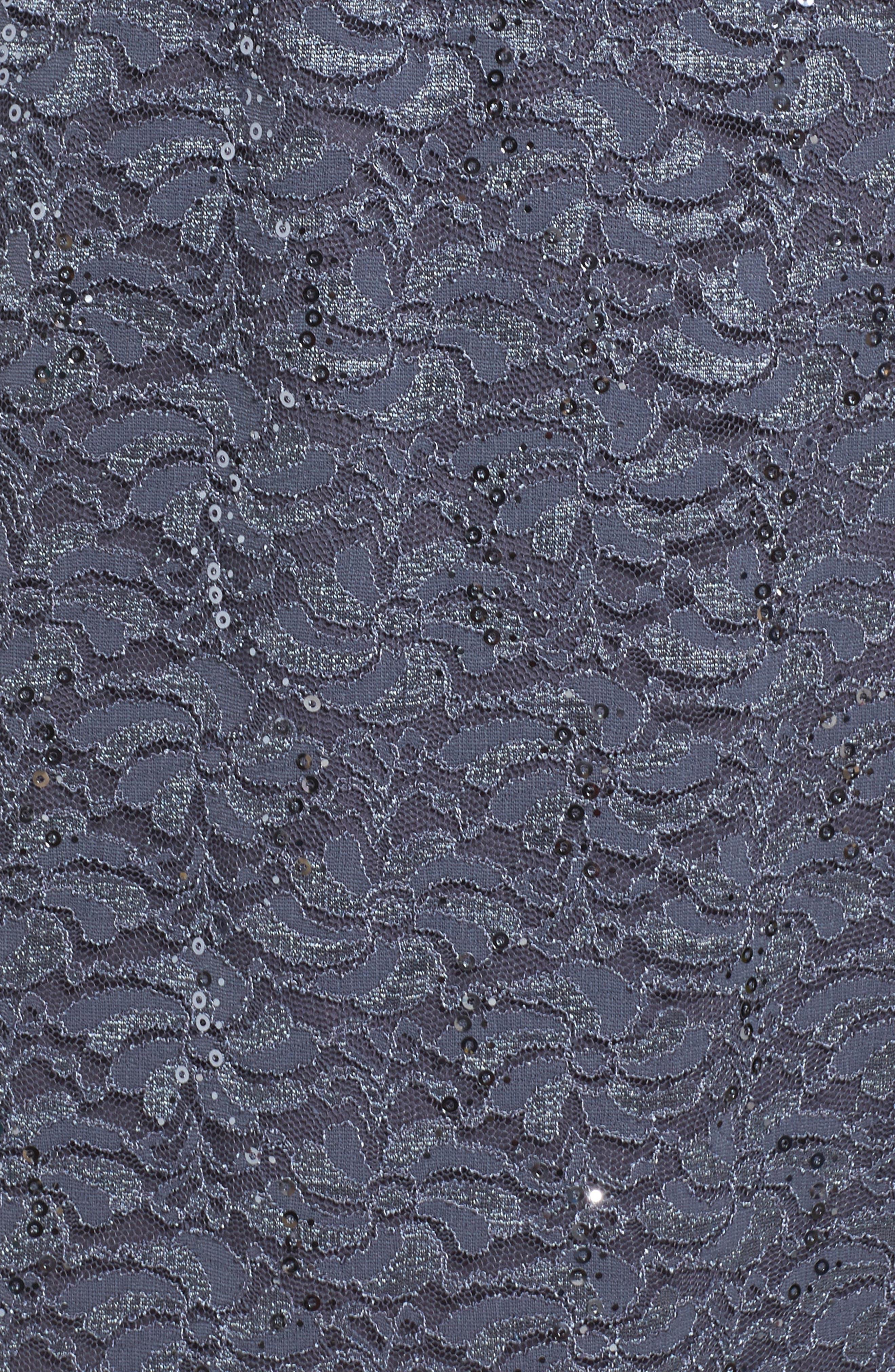 Sequin Lace Jacket Dress,                             Alternate thumbnail 5, color,                             Blue Smoke