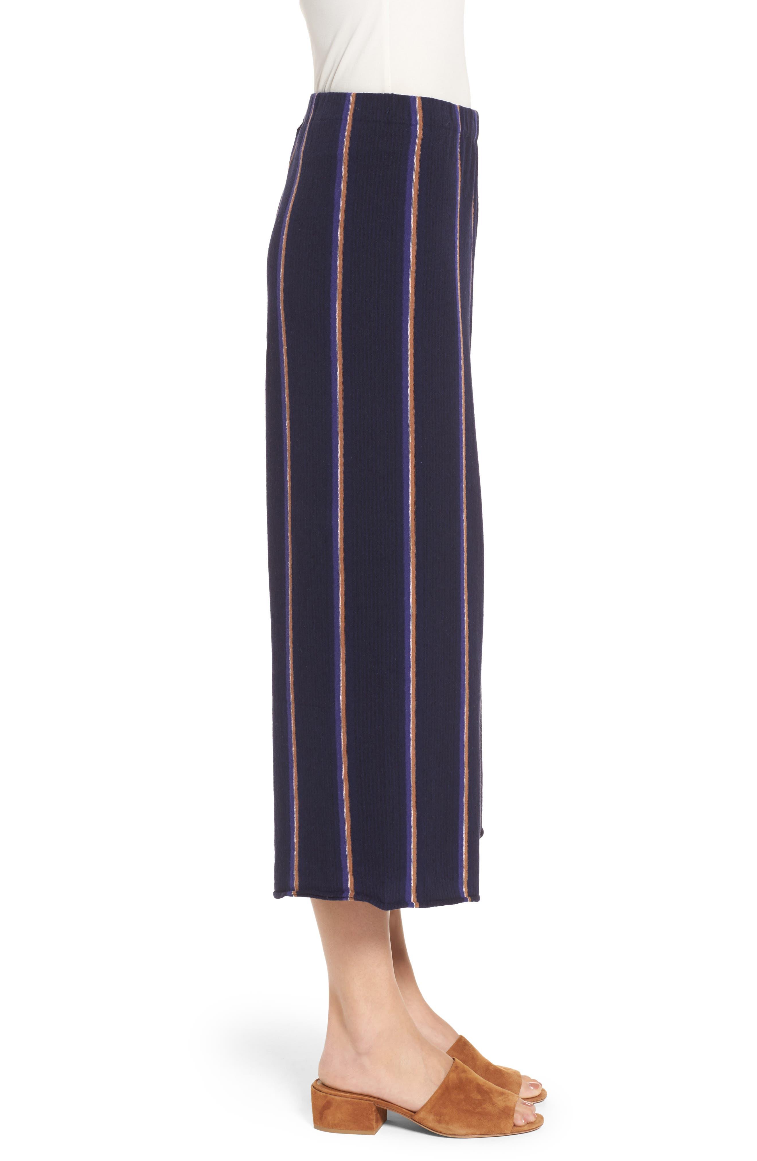 Lined Up Knit Pants,                             Alternate thumbnail 3, color,                             Blue Multi