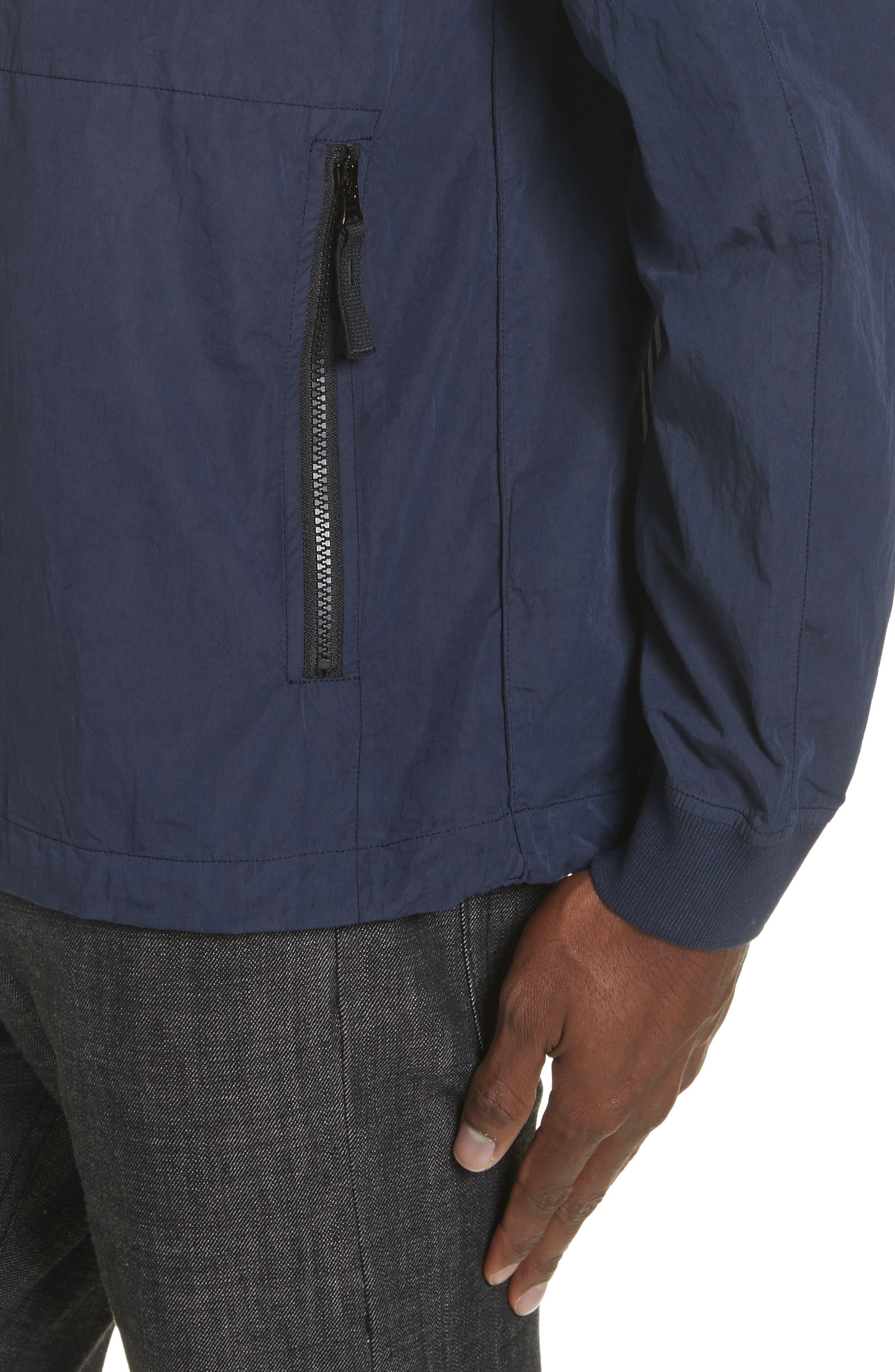 Marina Stripe Sweatshirt,                             Alternate thumbnail 4, color,                             Blue