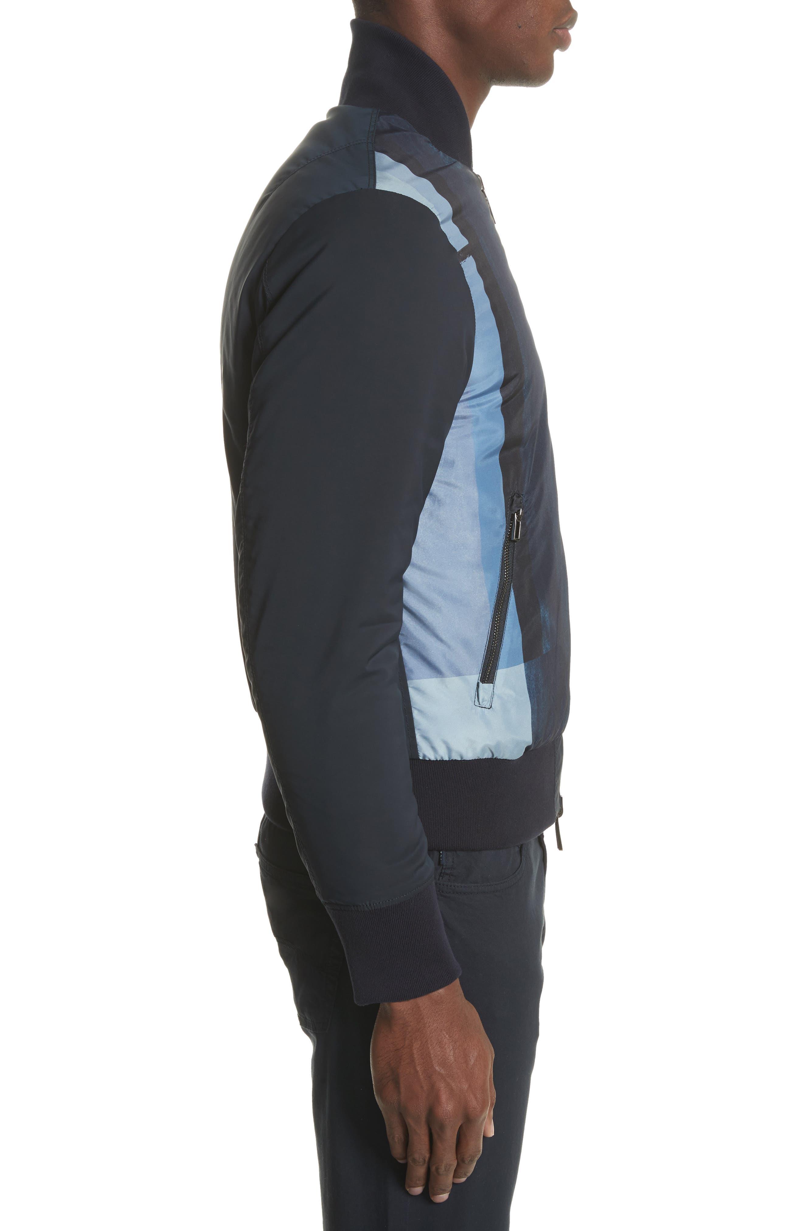 Colorblock Reversible Classic Fit Jacket,                             Alternate thumbnail 3, color,                             Blue Multi