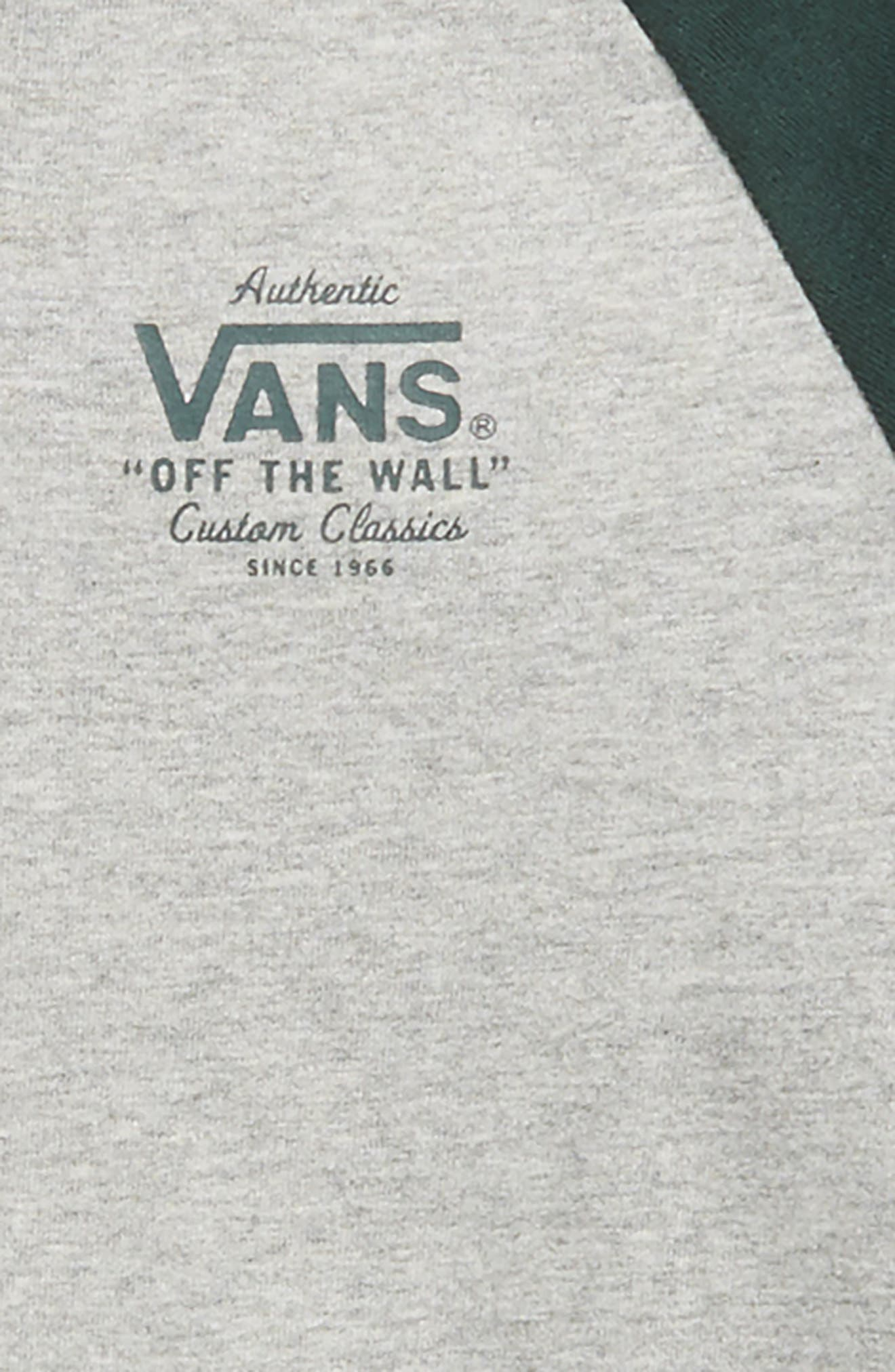 Denton Henley T-Shirt,                             Alternate thumbnail 2, color,                             Cement Heather/ Vans Scarab