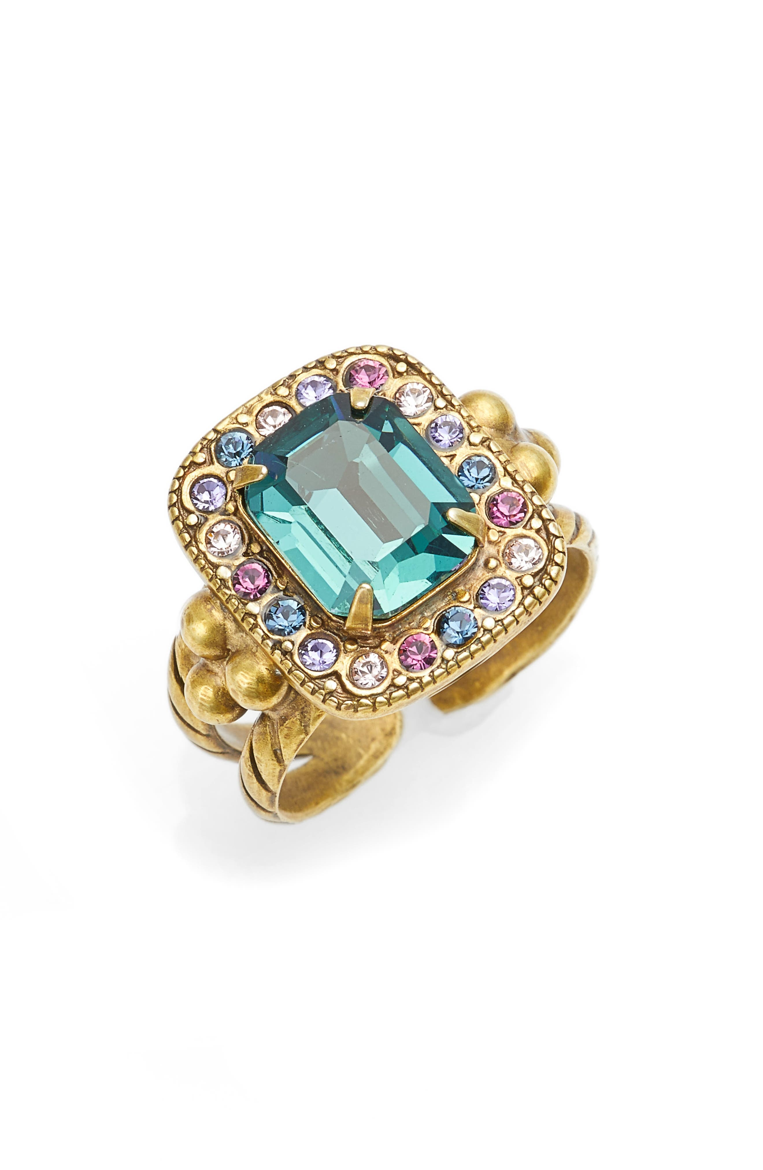 Opulent Octagon Cocktail Ring,                             Main thumbnail 1, color,                             Multi