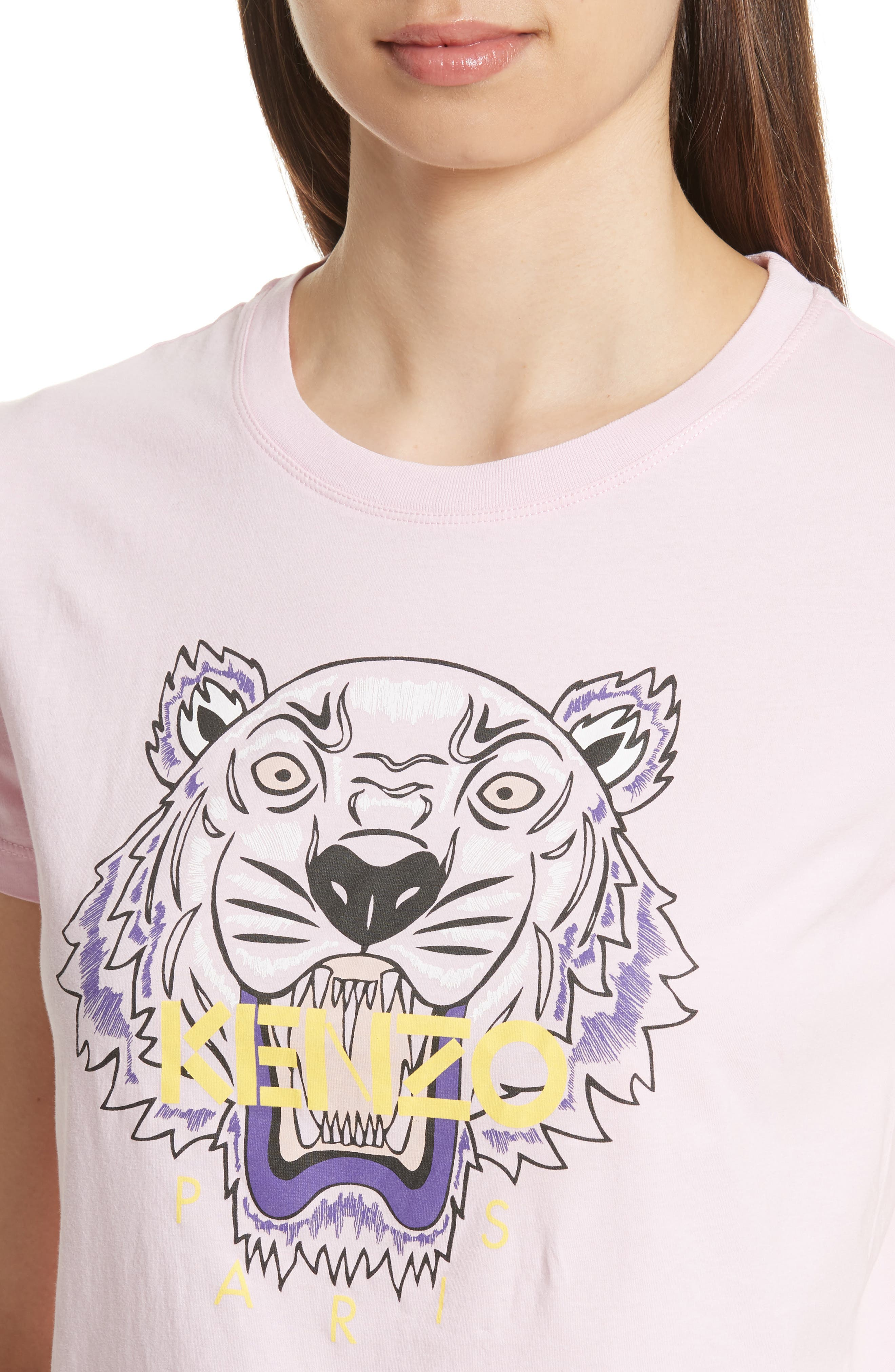 Classic Tiger Graphic Tee,                             Alternate thumbnail 4, color,                             Flamingo Pink