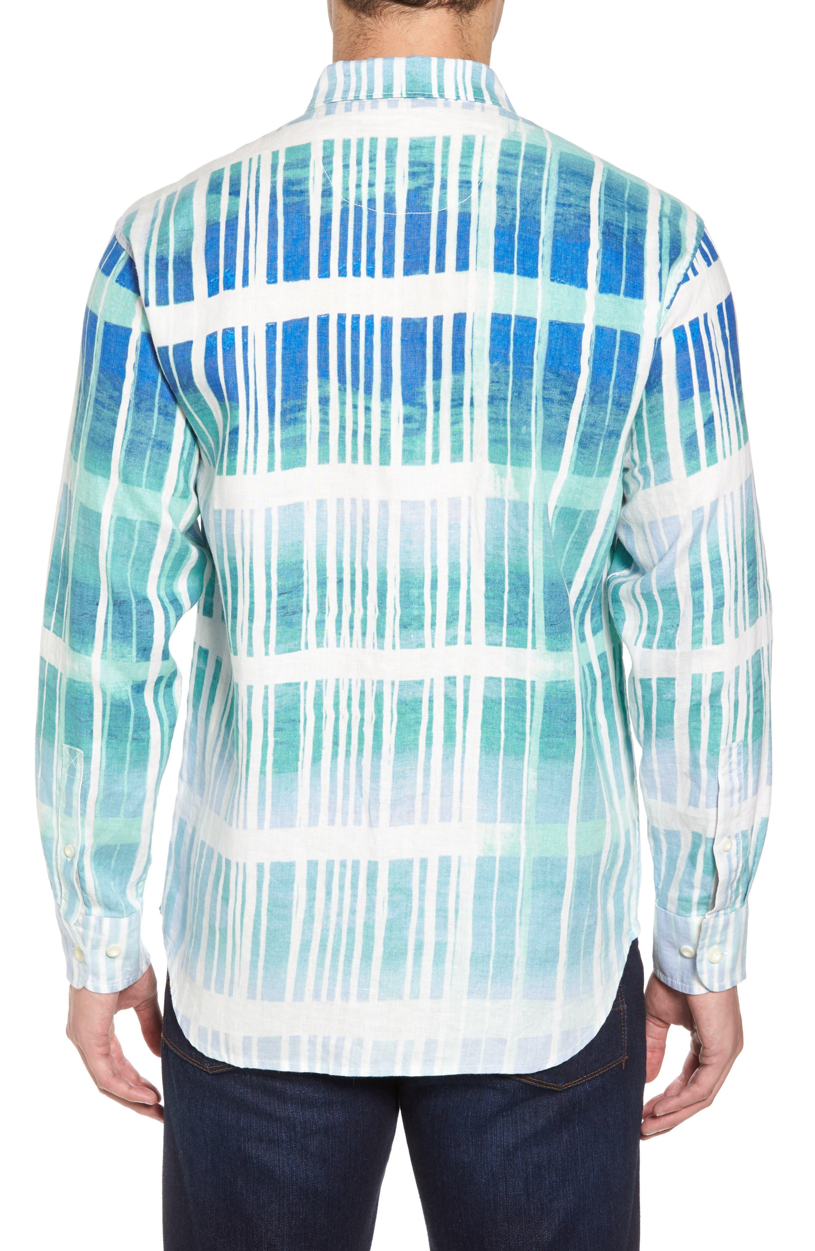 Okeechobee Ombré Breezer Sport Shirt,                             Alternate thumbnail 2, color,                             Santorini Blue