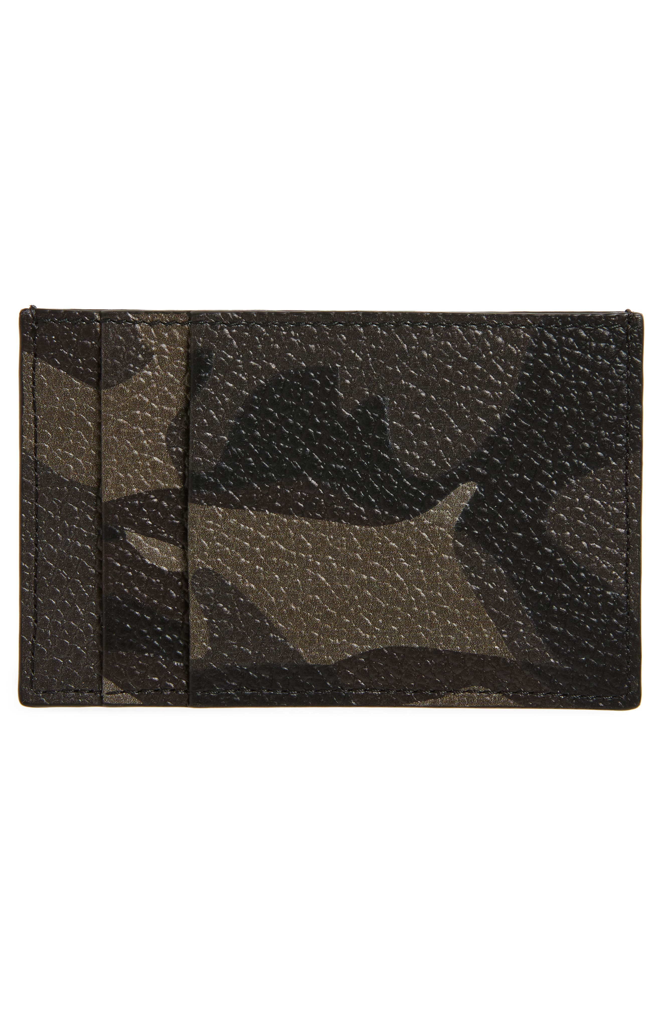 Alternate Image 2  - Alexander McQueen Camo Leather Card Case