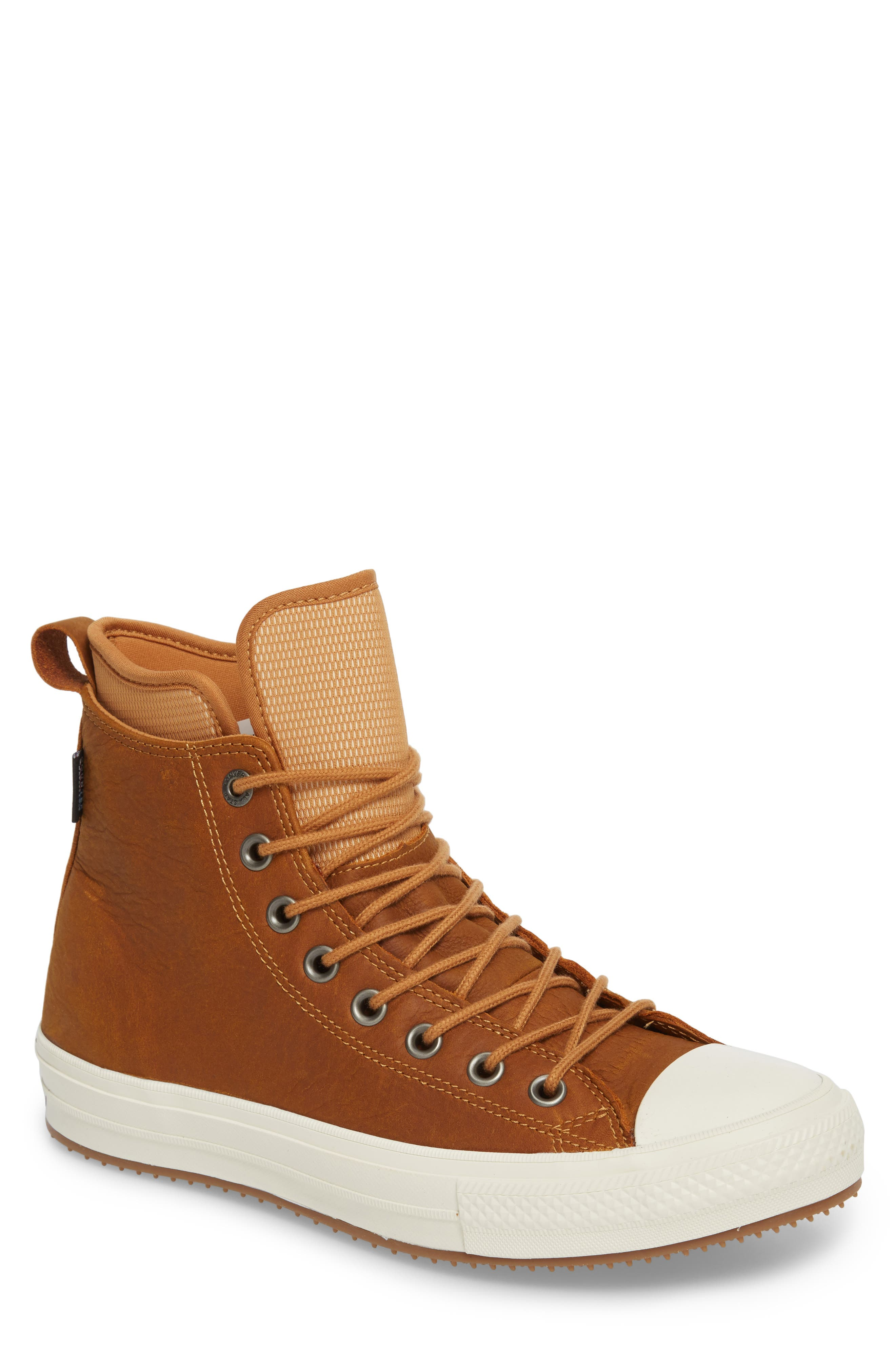 Chuck Taylor<sup>®</sup> All Star<sup>®</sup> Waterproof Sneaker,                         Main,                         color, Raw Sugar