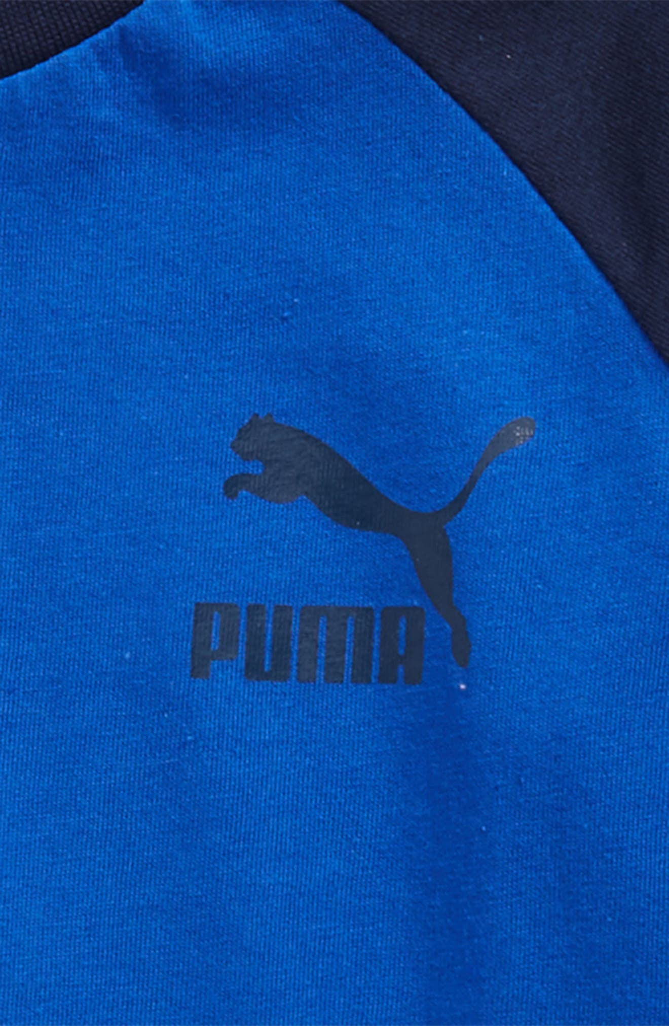Alternate Image 2  - PUMA Logo Raglan Sleeve T-Shirt (Little Boys)