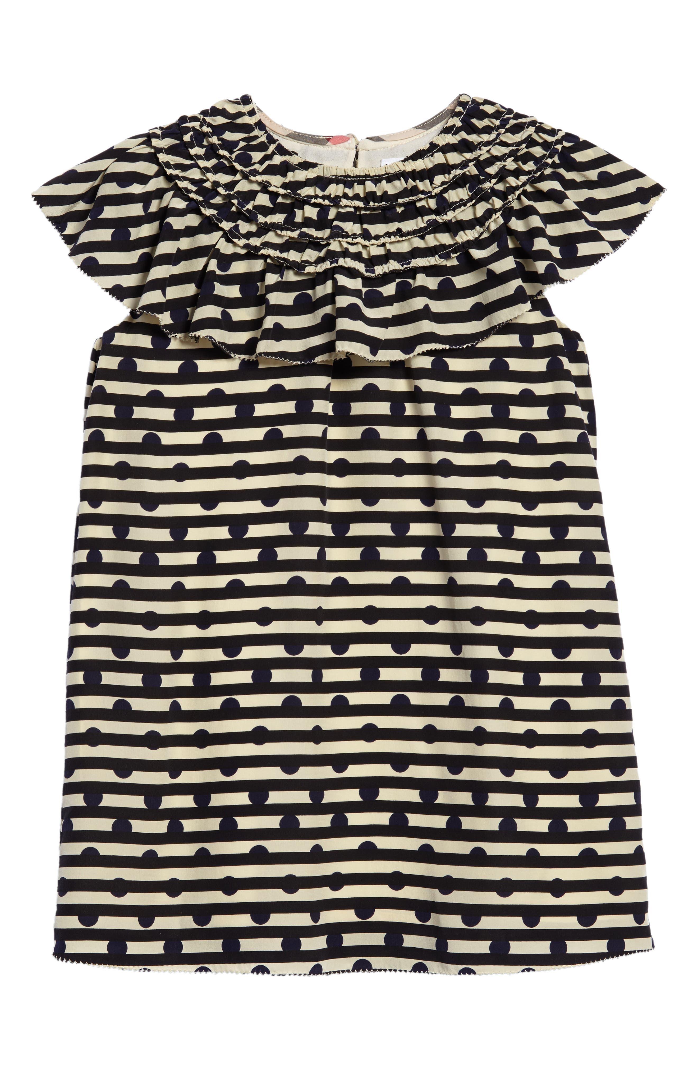Alternate Image 1 Selected - Burberry Lilla Silk Shift Dress (Little Girls & Big Girls)