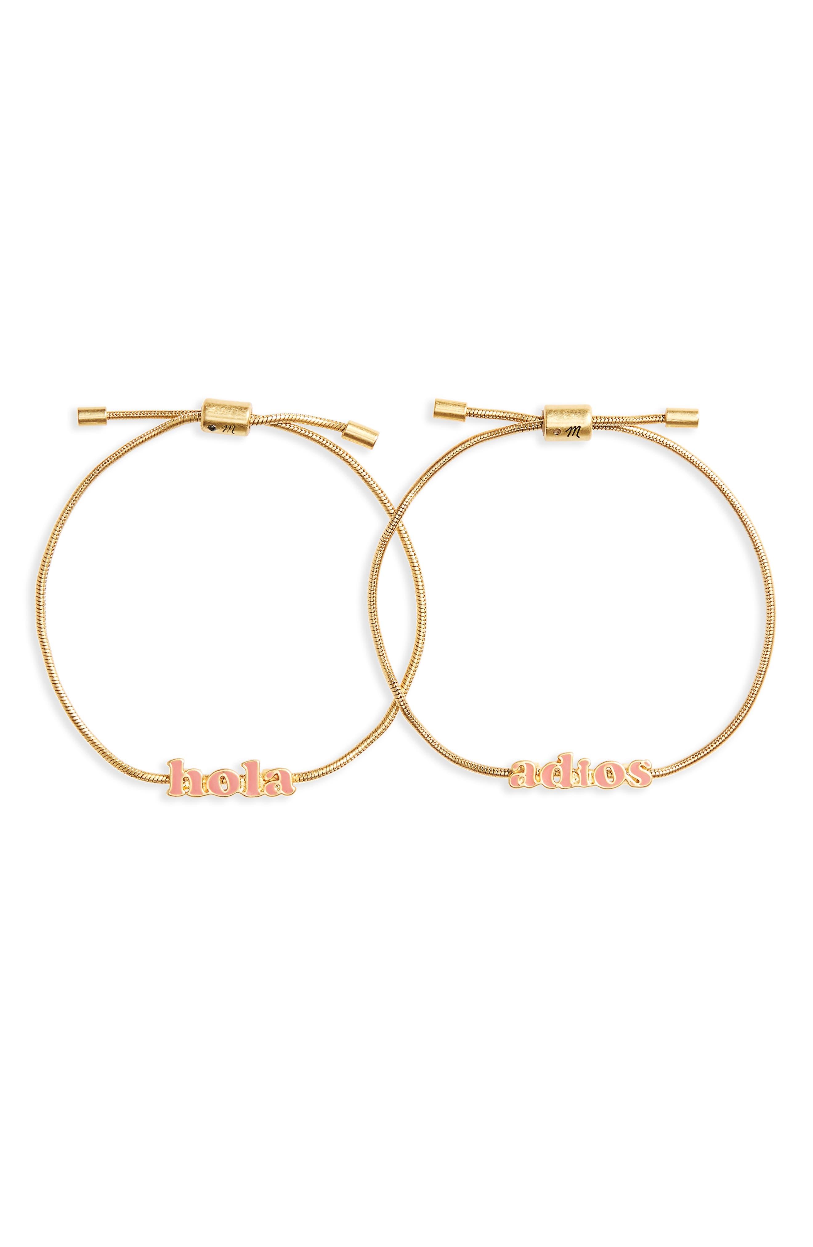 Set of 2 Friendship Bracelets,                         Main,                         color, Hola Set