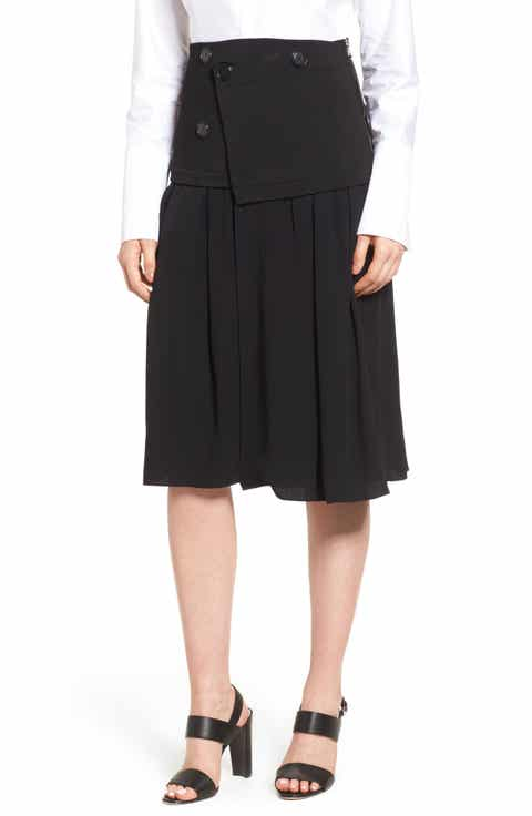 Lewit Knit Sweater Trim Pleated Skirt