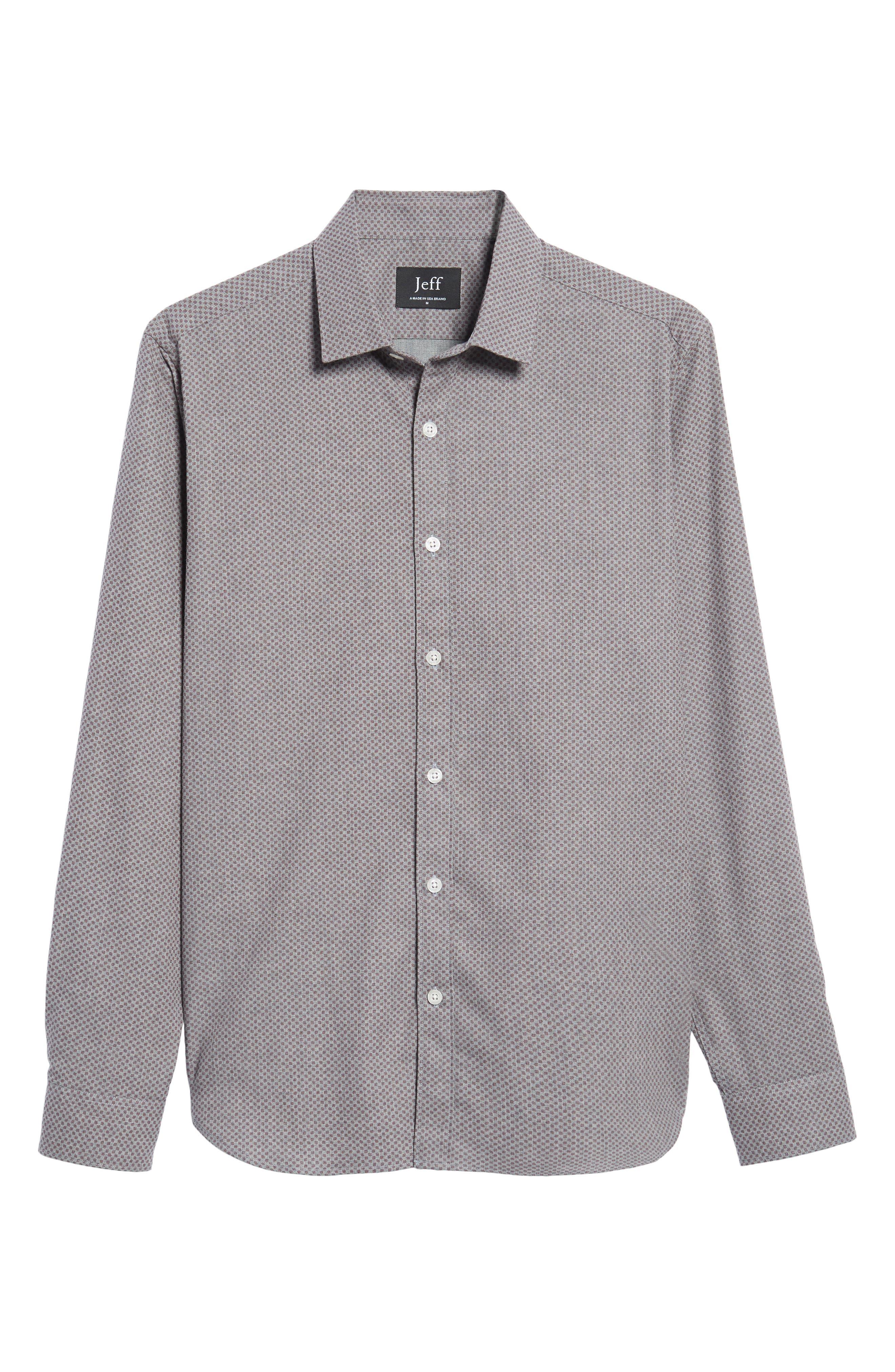 Ludlow Slim Fit Flannel Sport Shirt,                             Alternate thumbnail 6, color,                             Grey