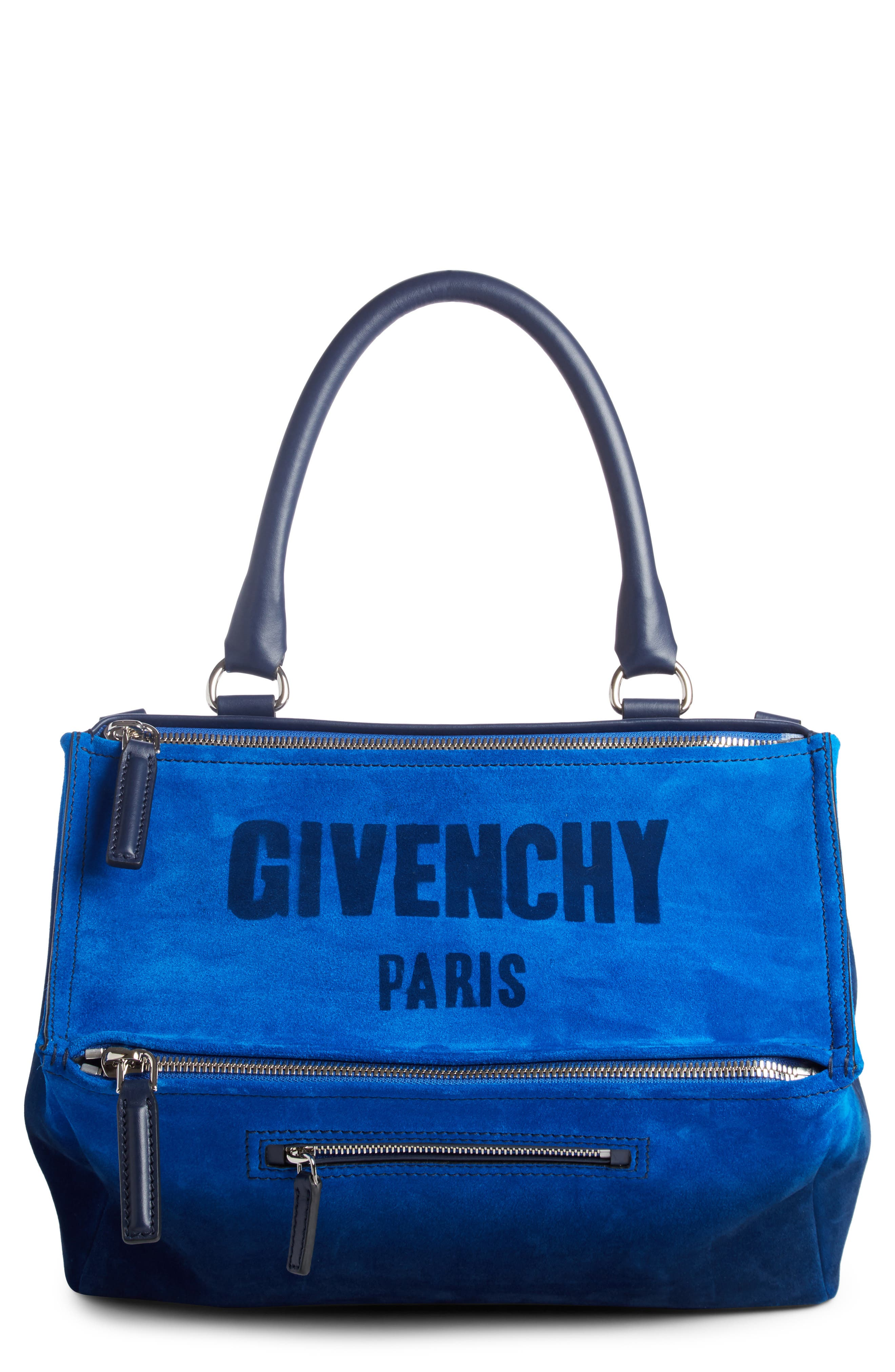 Alternate Image 1 Selected - Givenchy Small Pandora Dégradé Suede & Leather Satchel