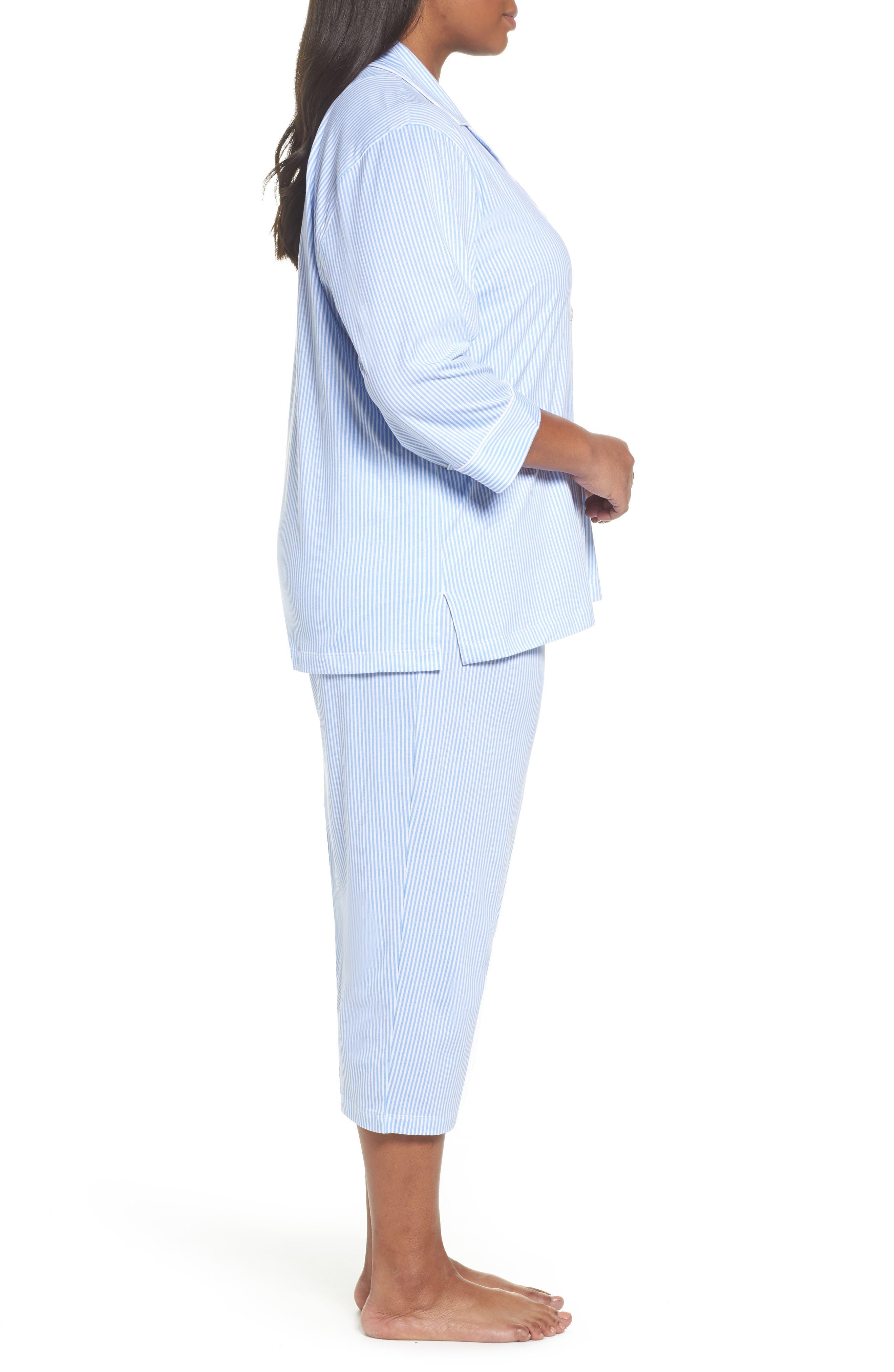 Alternate Image 3  - Lauren Ralph Lauren Bermuda Pajamas (Plus Size)