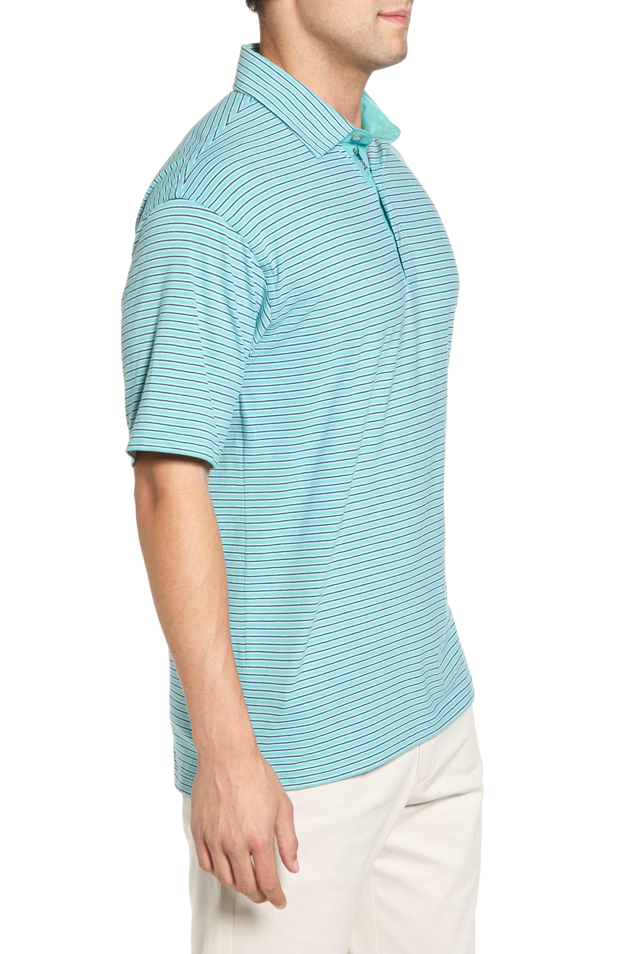 Crest Stripe Polo,                             Alternate thumbnail 3, color,                             Wintergreen
