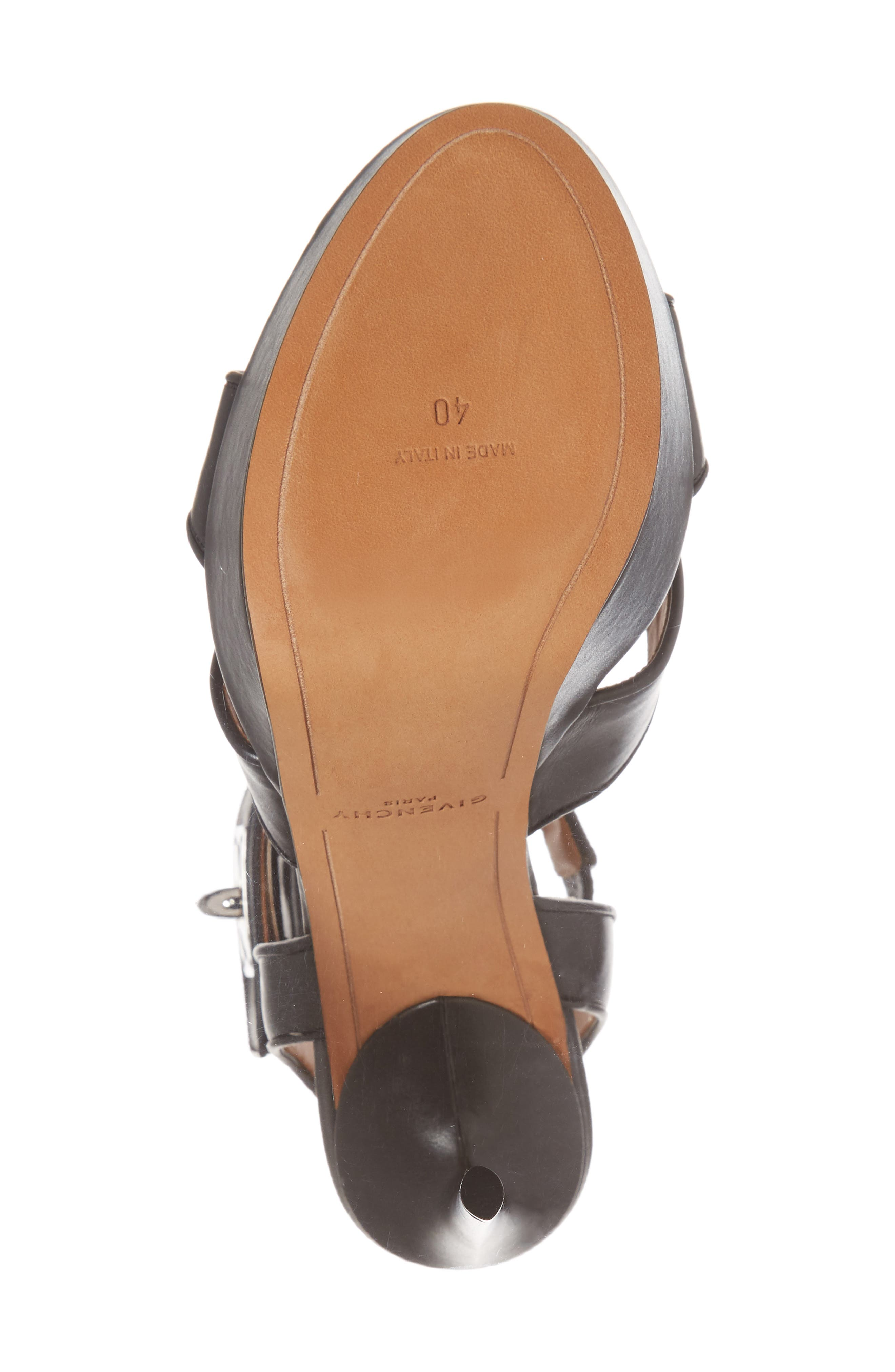 Shark Tooth Platform Sandal,                             Alternate thumbnail 6, color,                             Black
