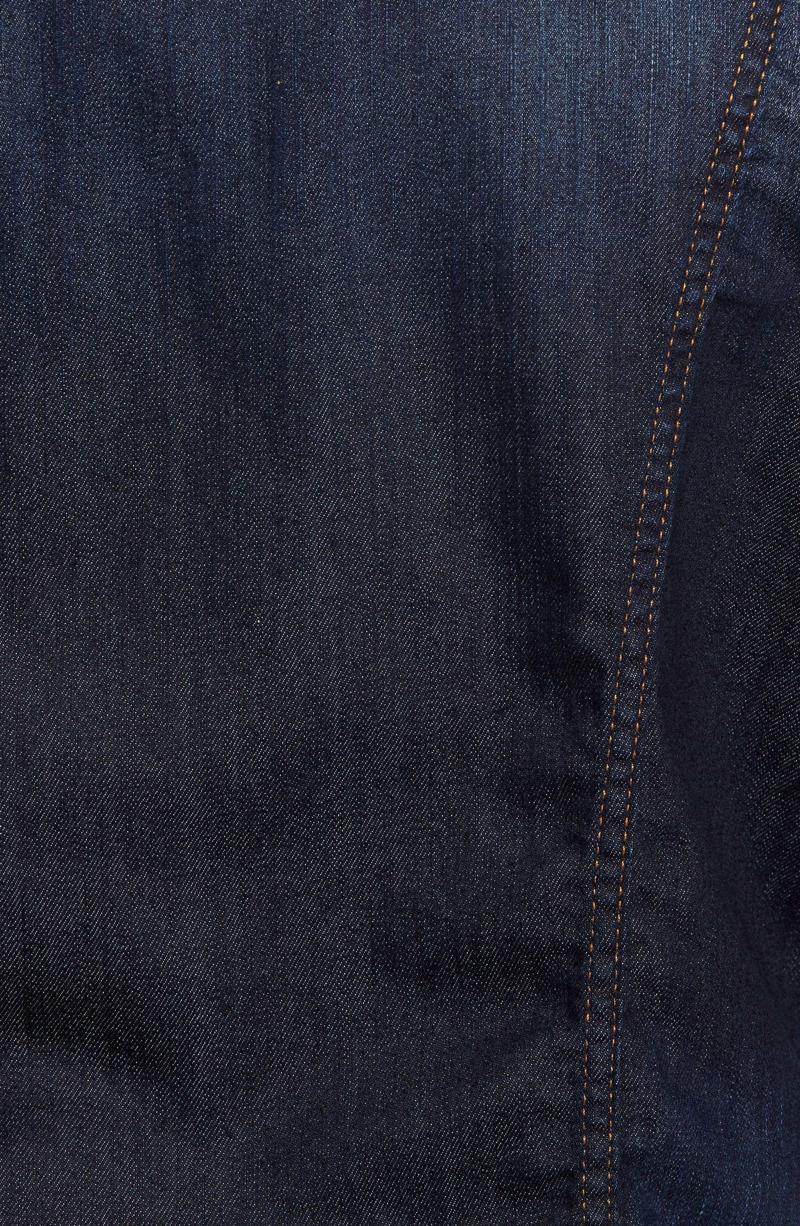 Denim Jacket,                             Alternate thumbnail 5, color,                             Melrose Vintage