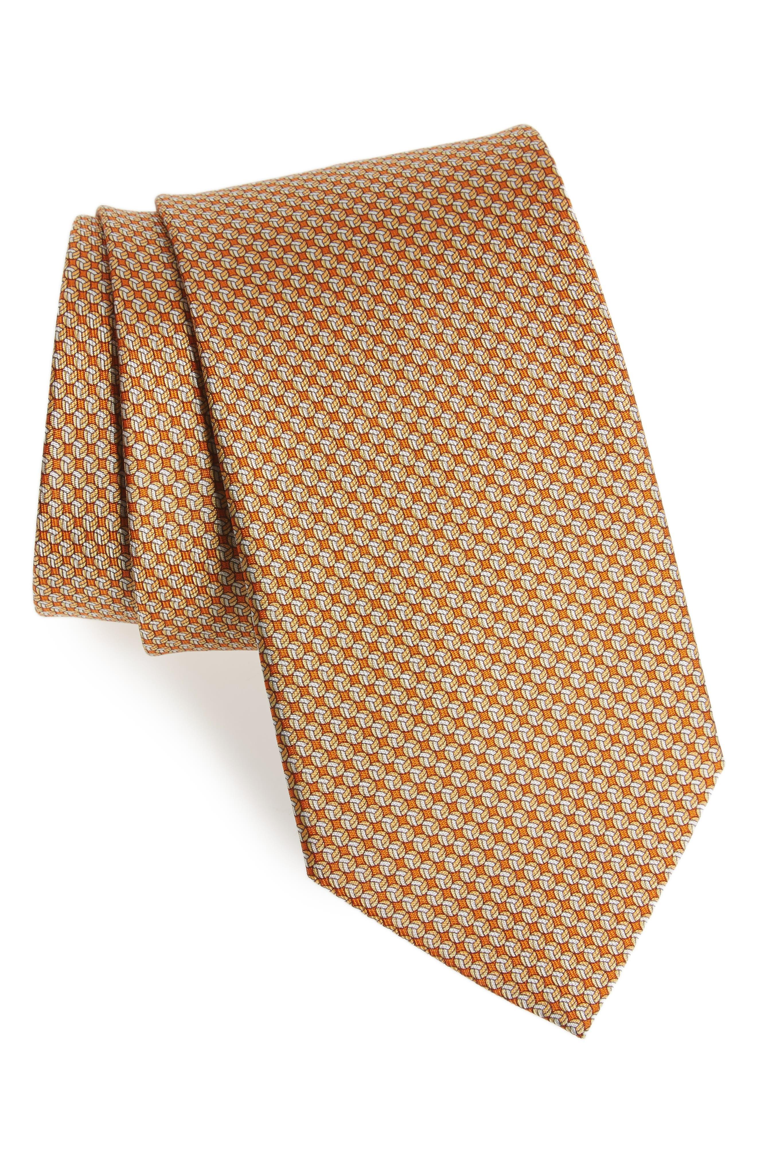 Salvatore Ferragamo Eta Print Silk Tie