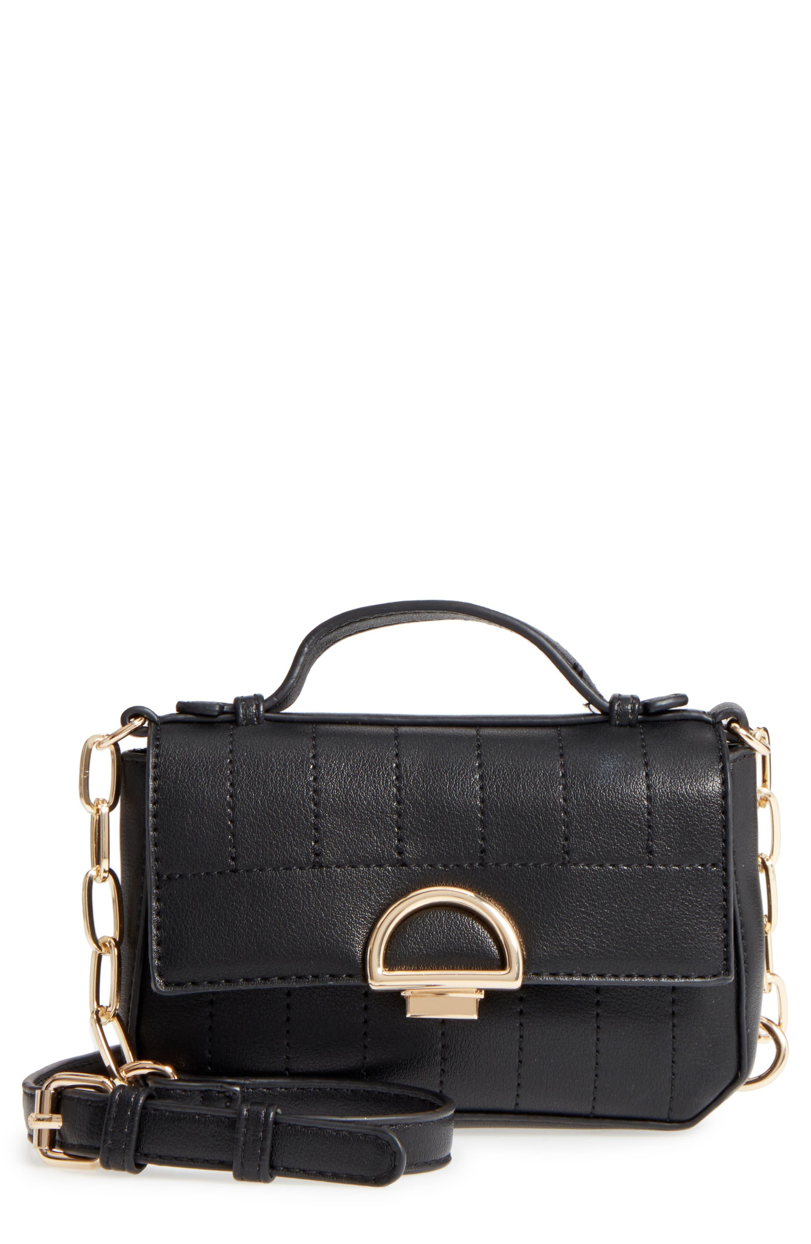 Kelsee Crossbody Bag,                         Main,                         color, Black