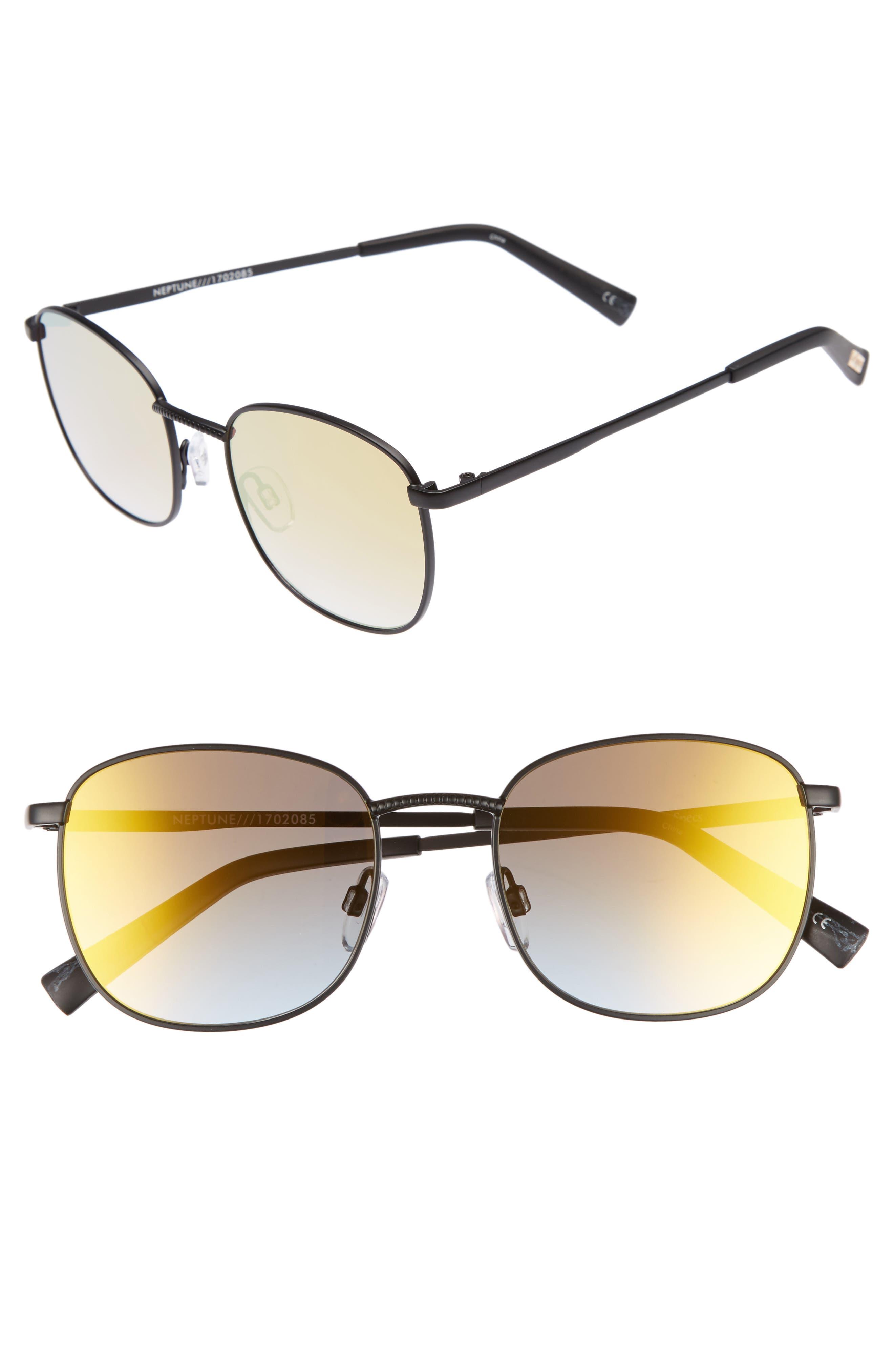 Neptune 49mm Sunglasses,                         Main,                         color, Matte Black