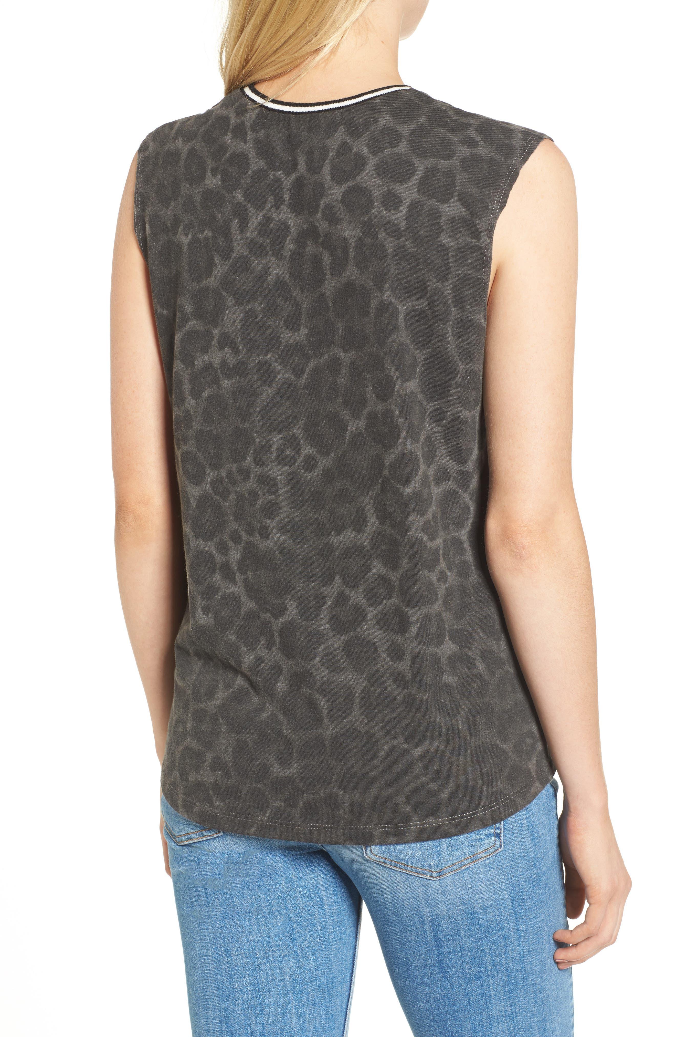 Choker Top,                             Alternate thumbnail 2, color,                             Leopard Print