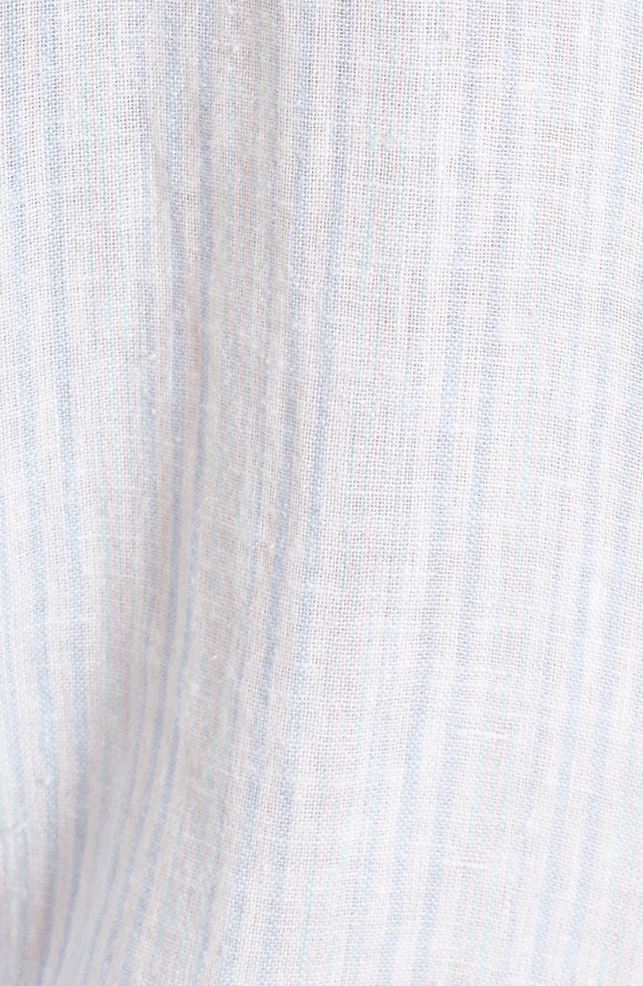 Charli Stripe Shirt,                             Alternate thumbnail 5, color,                             Playa Stripe