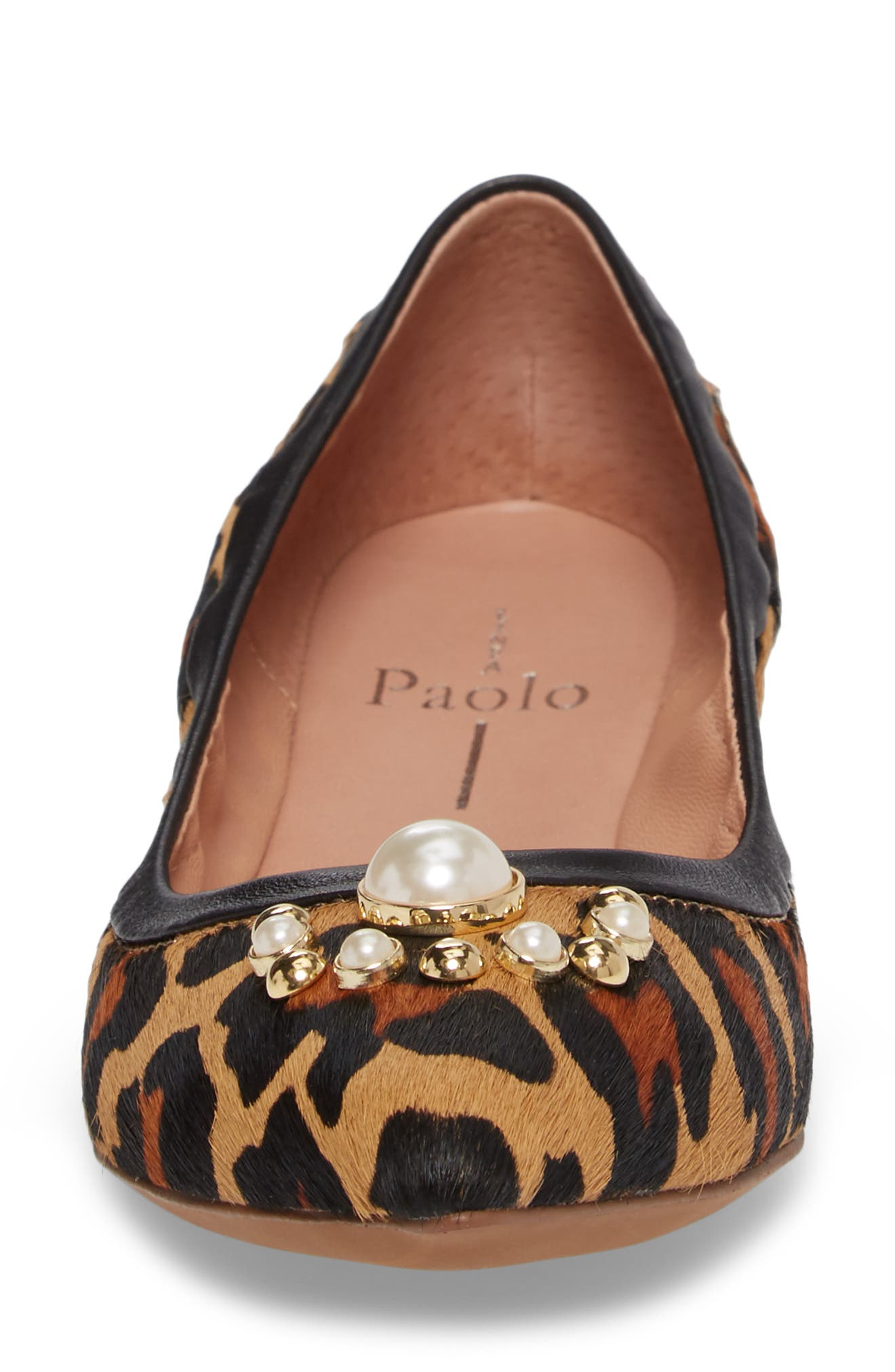 Alternate Image 4  - Linea Paolo Nadia Embellished Genuine Calf Hair Flat (Women)
