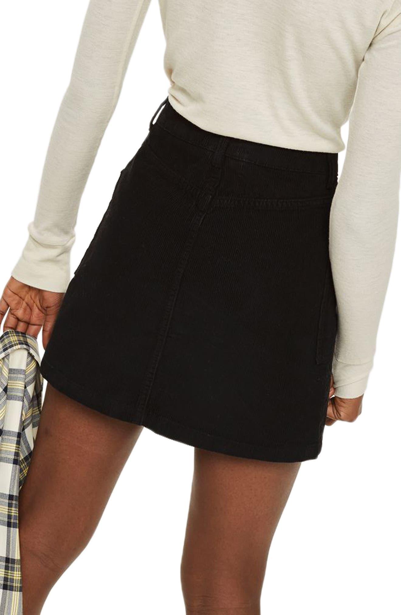 Alternate Image 2  - Topshop Zip Through Corduroy Skirt