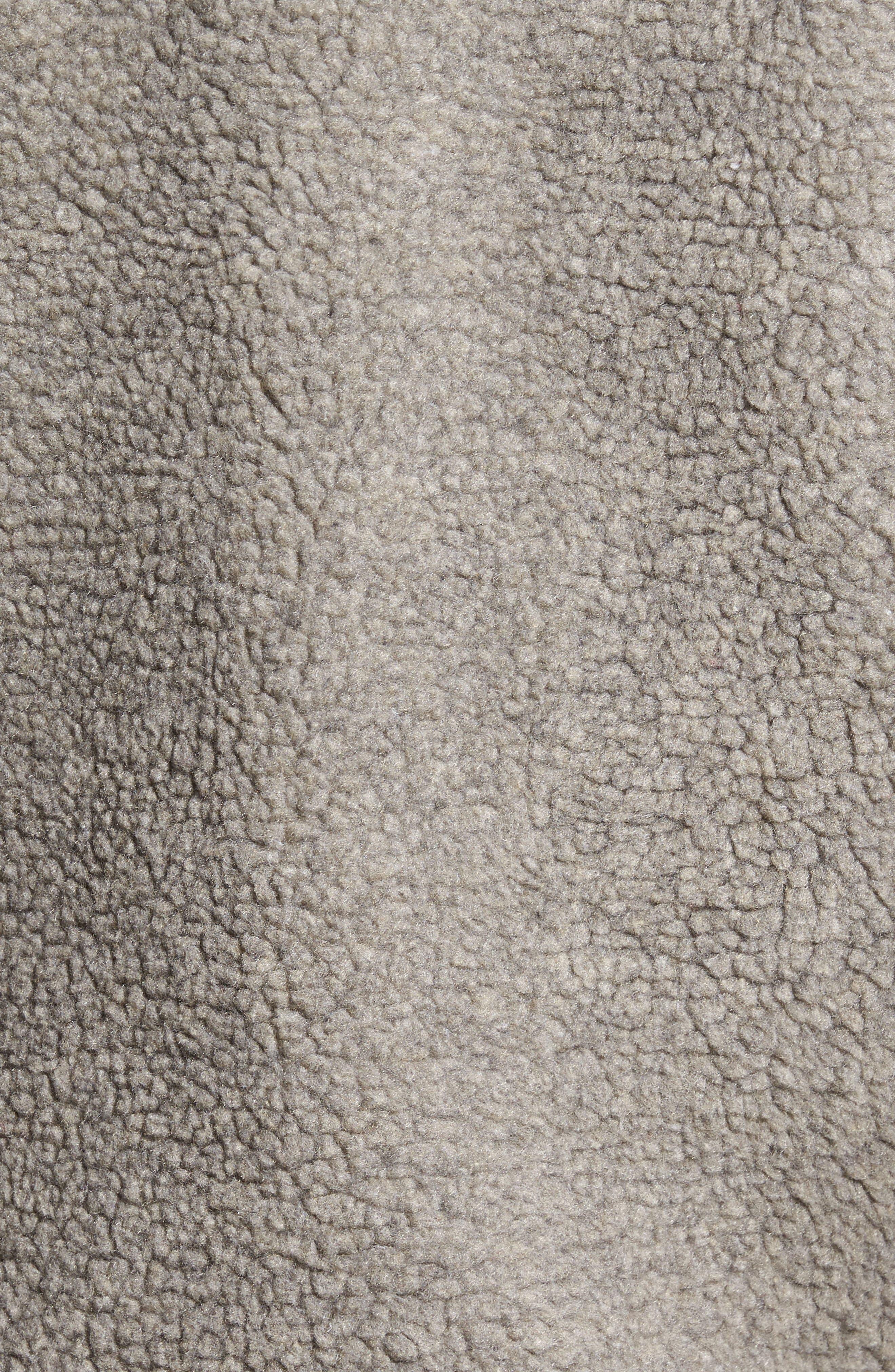 Vaughn Hooded Fleece Jacket,                             Alternate thumbnail 4, color,                             Grey