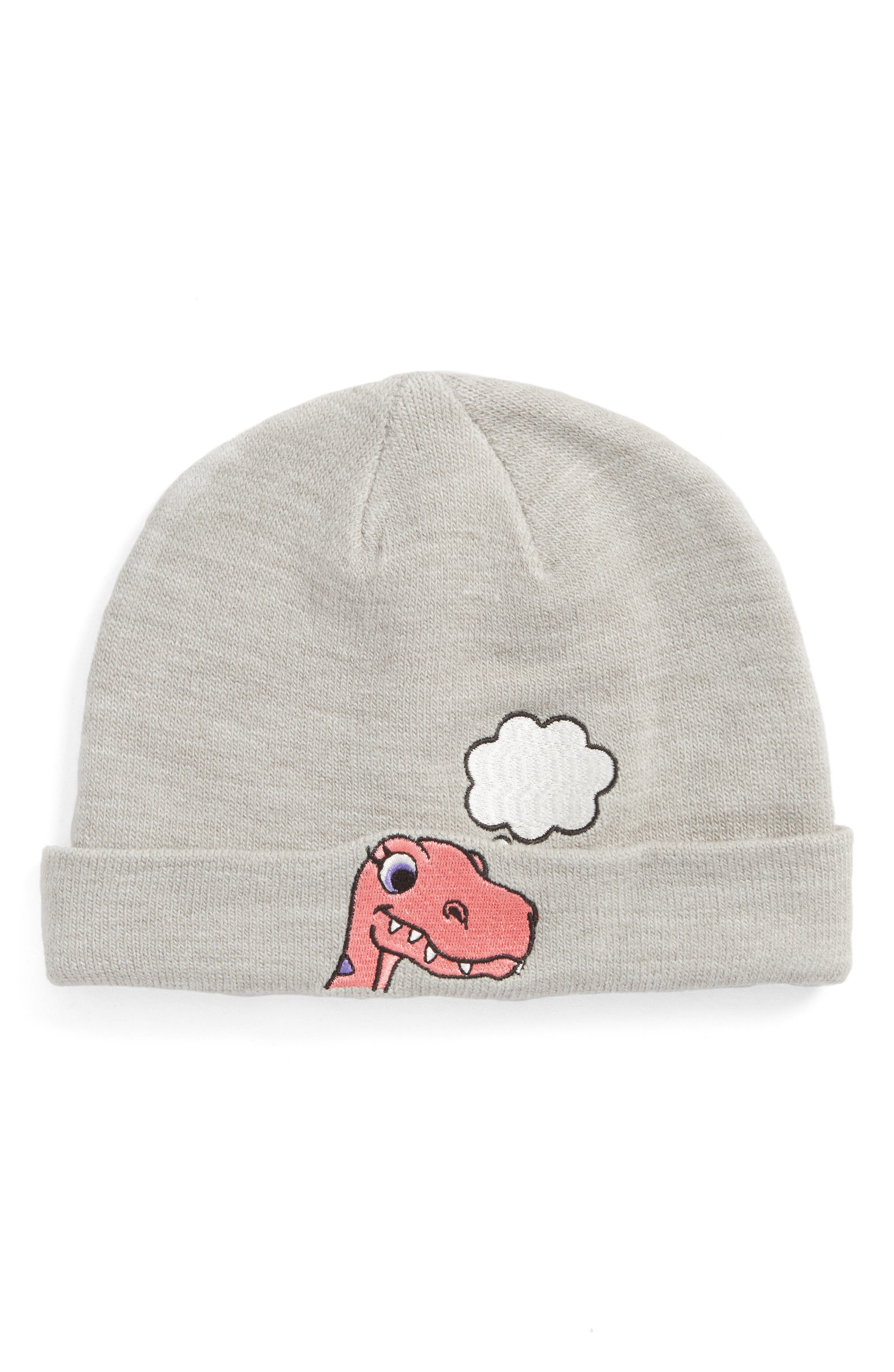 Capelli of New York Brainstorming Dino Beanie,                         Main,                         color, Grey Combo