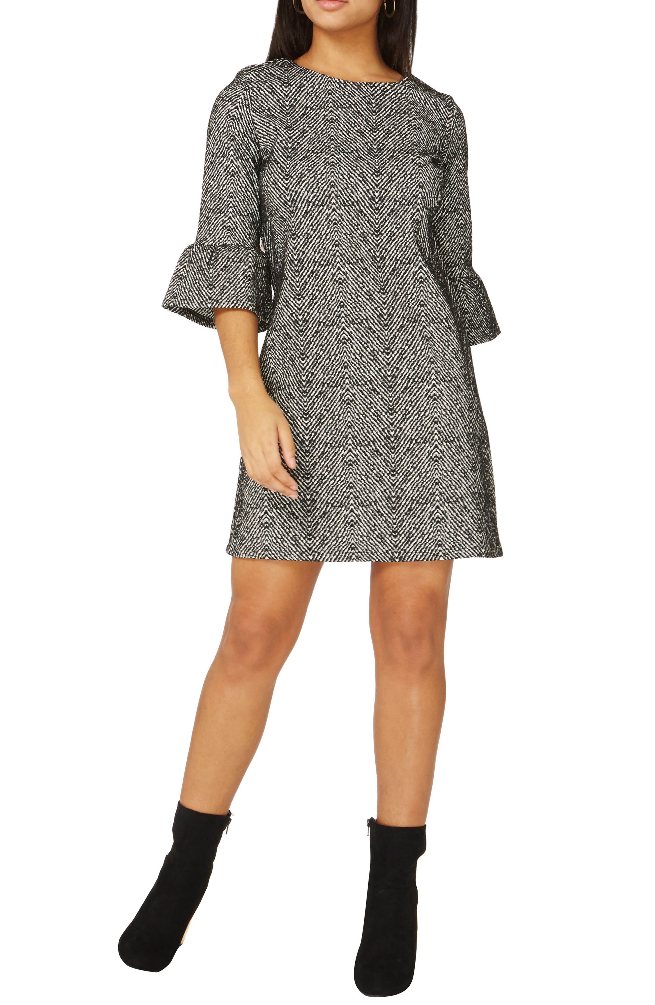Alternate Image 2  - Dorothy Perkins Herringbone Shift Dress