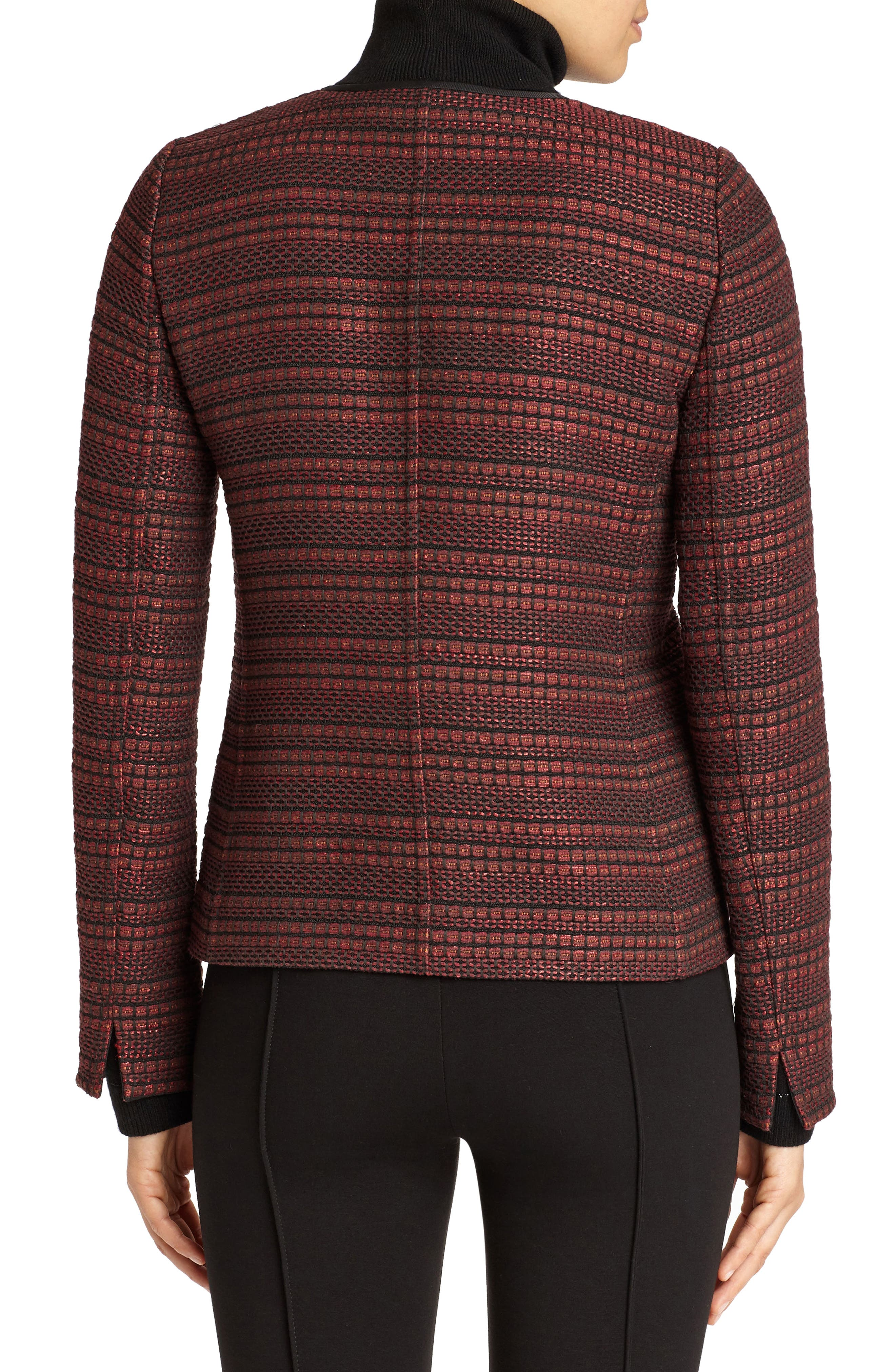 Laurence Venetian Tweed Jacket,                             Alternate thumbnail 2, color,                             Shiraz Multi