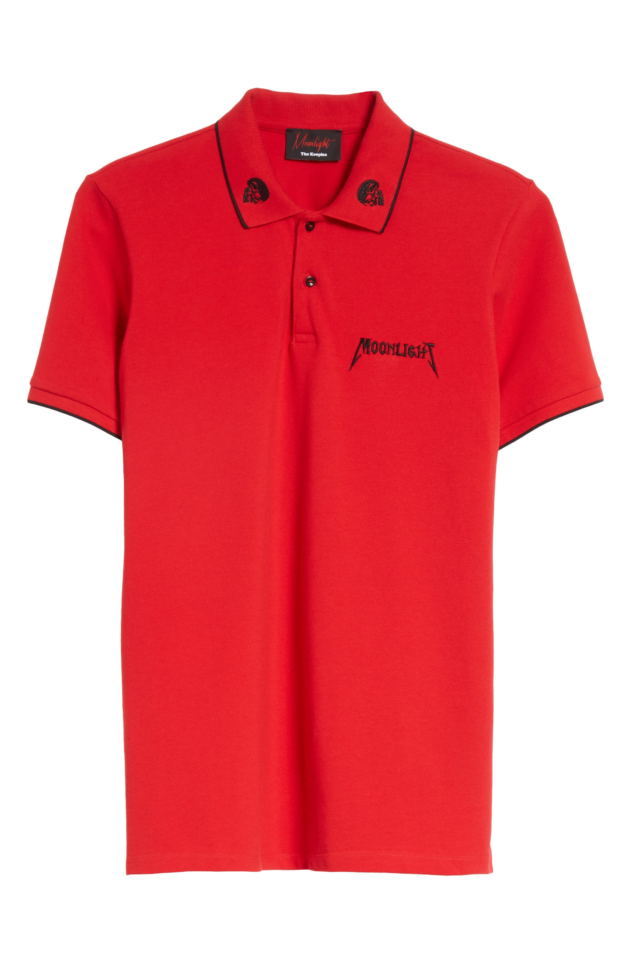 Tipped Piqué Polo,                             Alternate thumbnail 6, color,                             Red