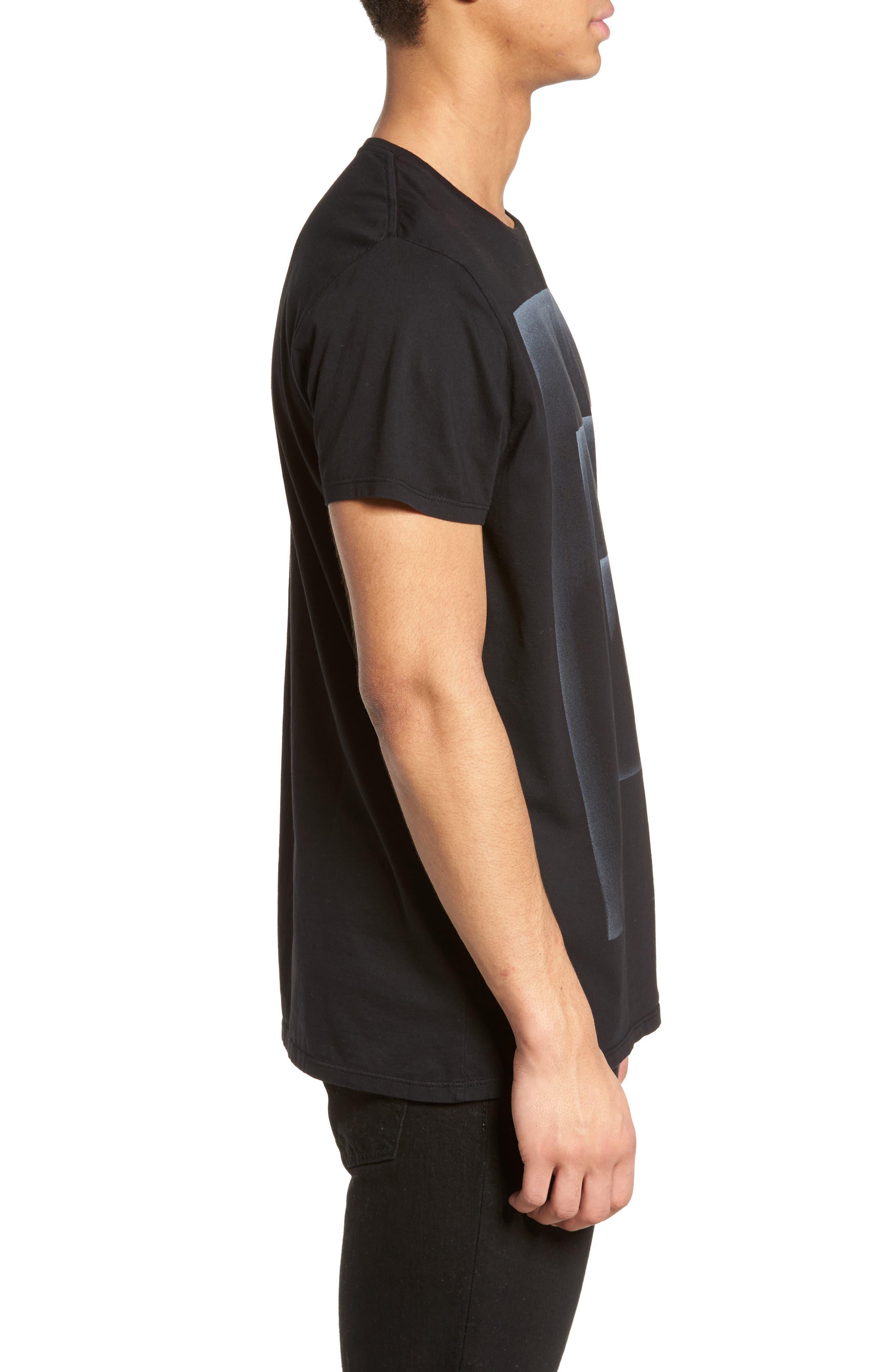Outline Graphic T-Shirt,                             Alternate thumbnail 3, color,                             Black