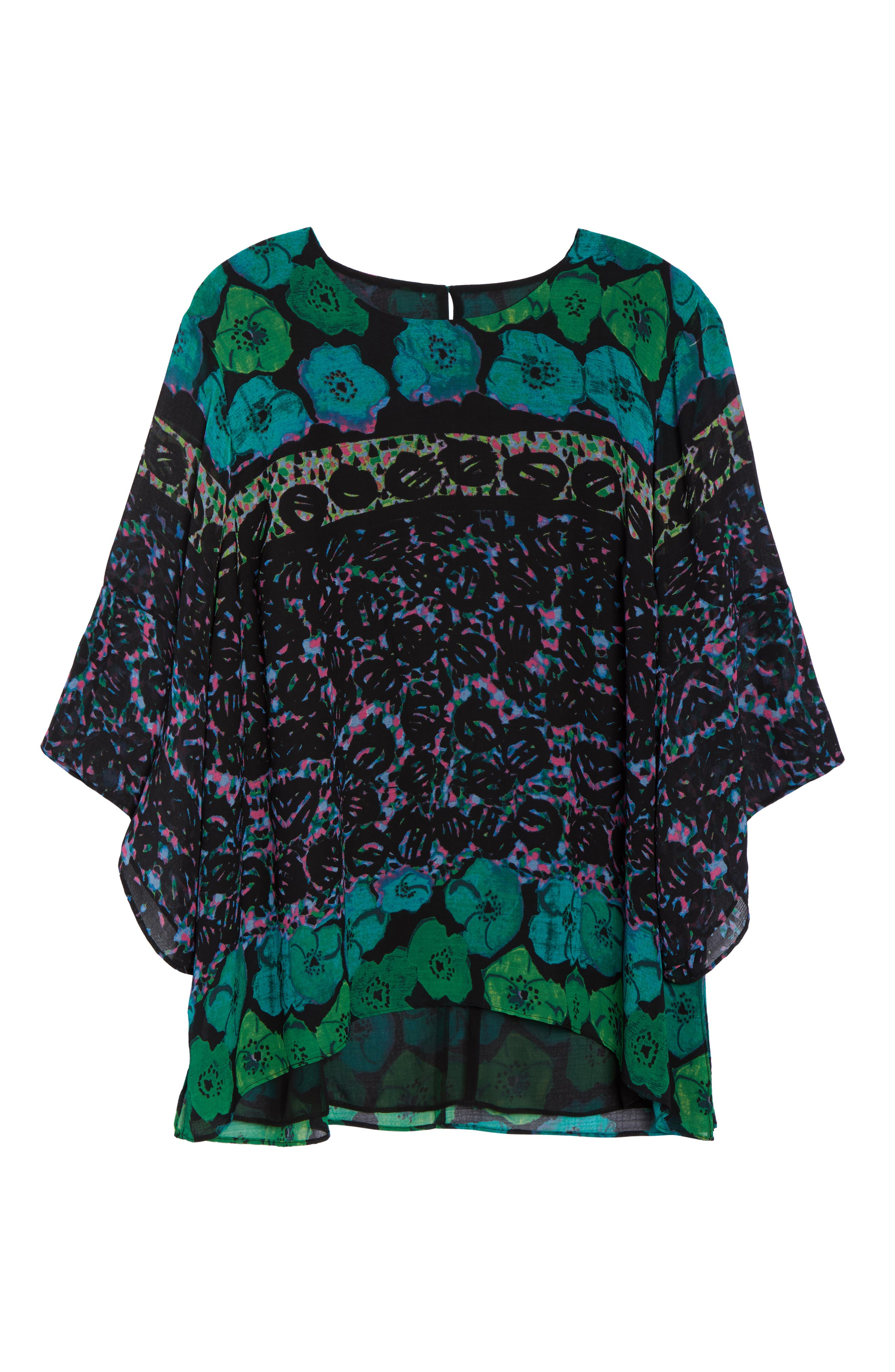 Alternate Image 7  - RACHEL Rachel Roy Print Bell Sleeve Blouse (Plus Size)