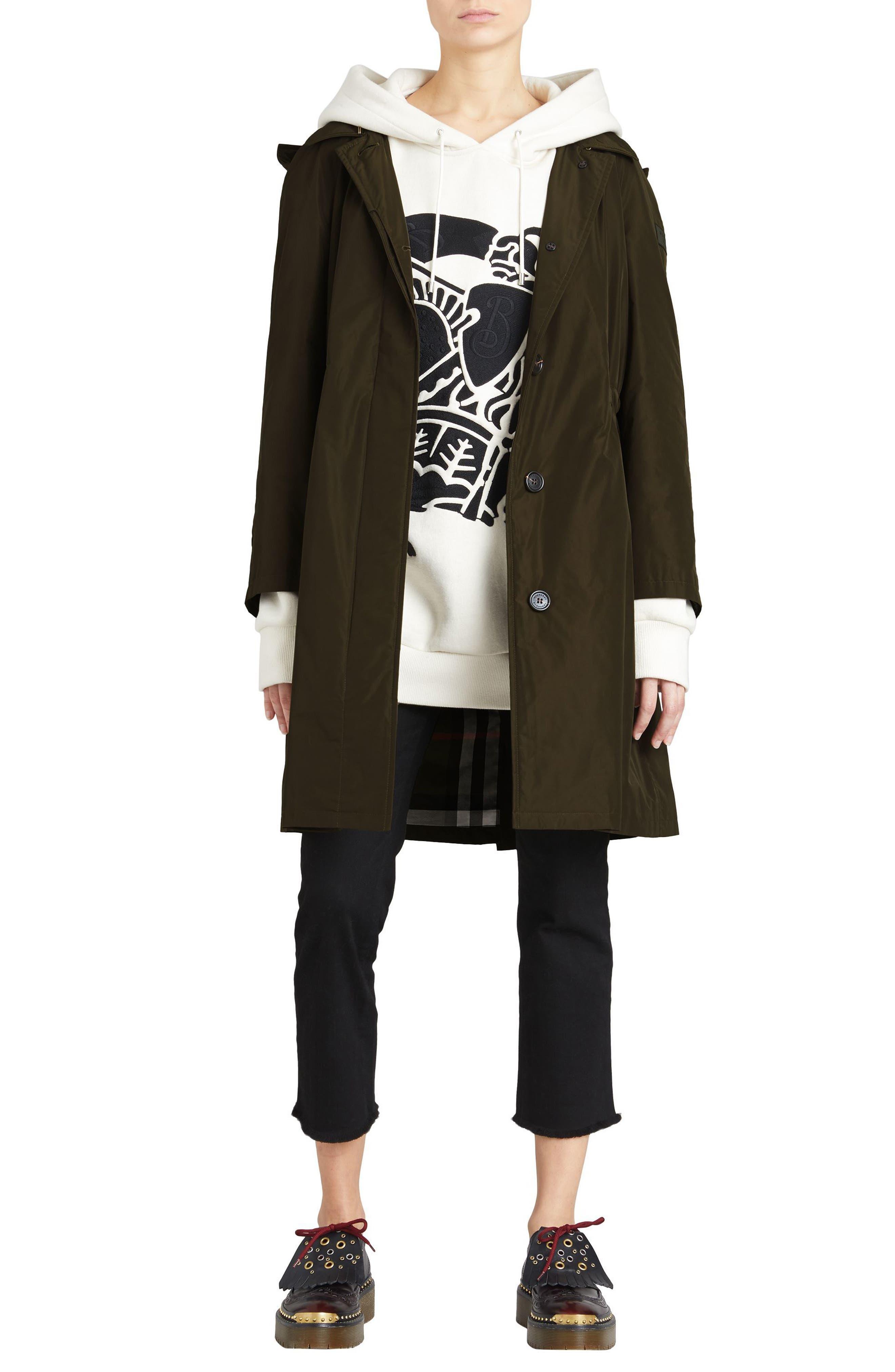 Alternate Image 6  - Burberry Tringford Waterproof Hooded Coat