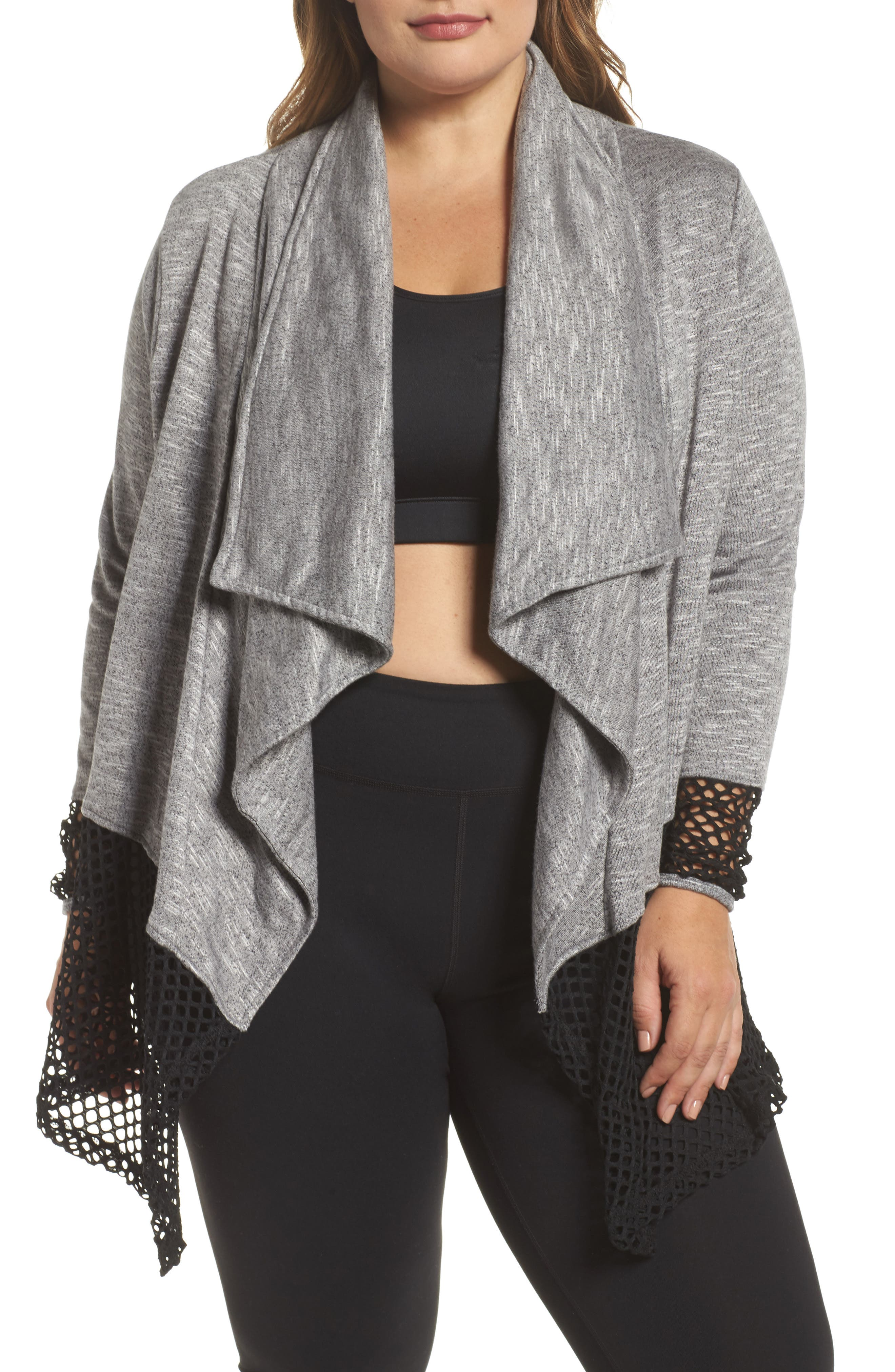 Marika Curves Illusion Drape Cardigan (Plus Size)