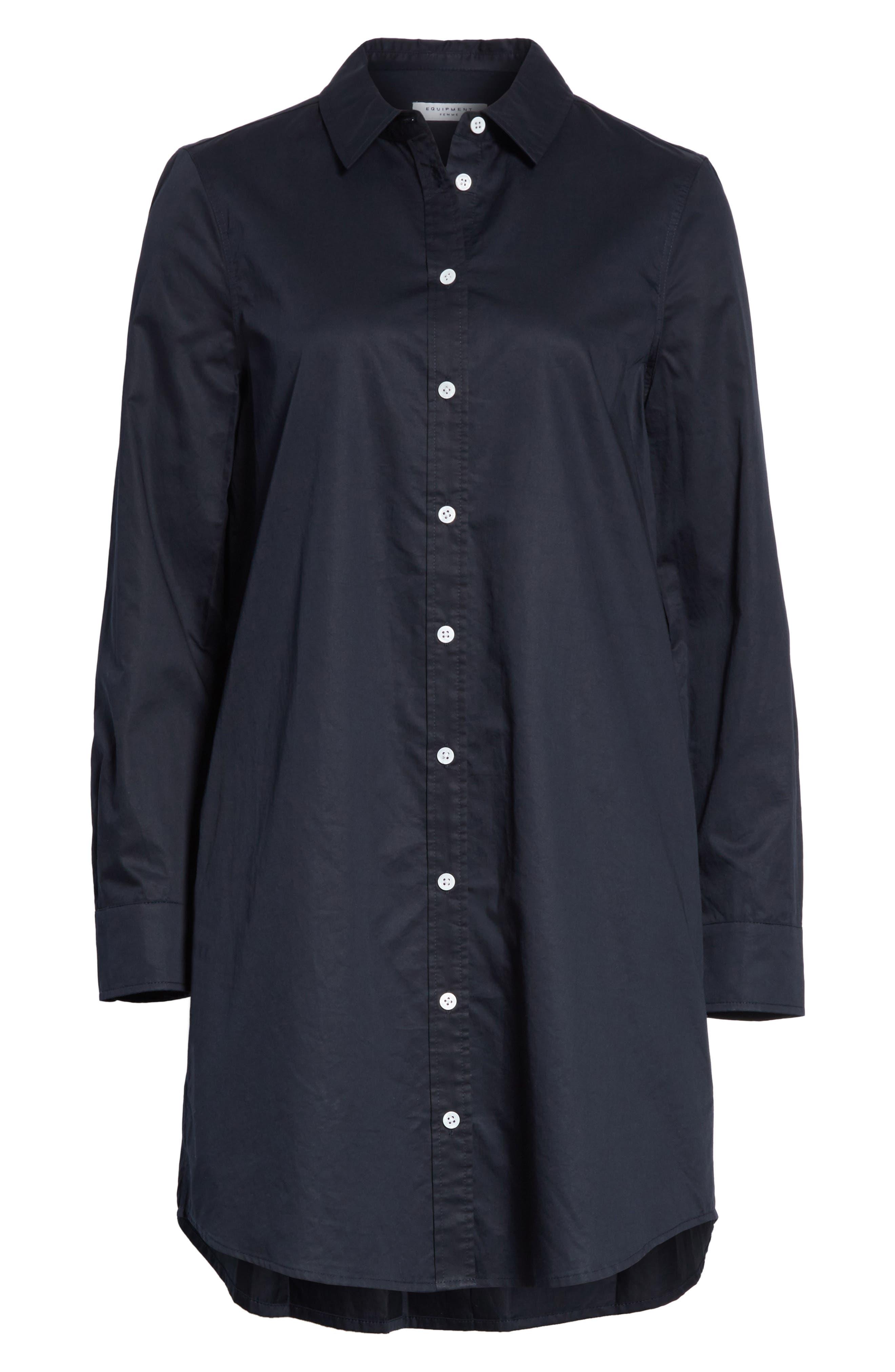 Carmine Cotton Shirtdress,                             Alternate thumbnail 6, color,                             Eclipse