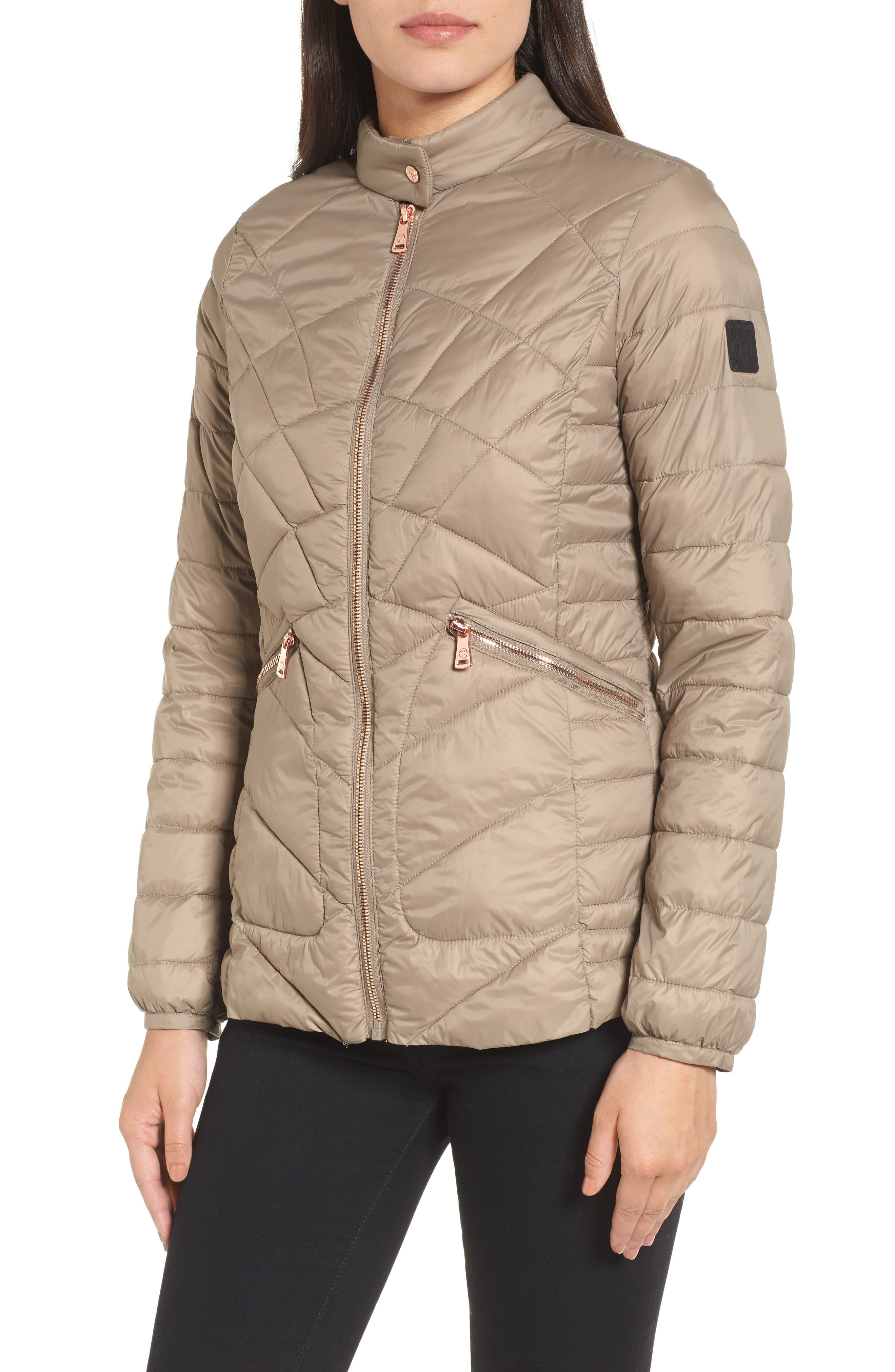 Water-Resistant Thermoplume Insulated Jacket,                             Alternate thumbnail 4, color,                             Warm Sand