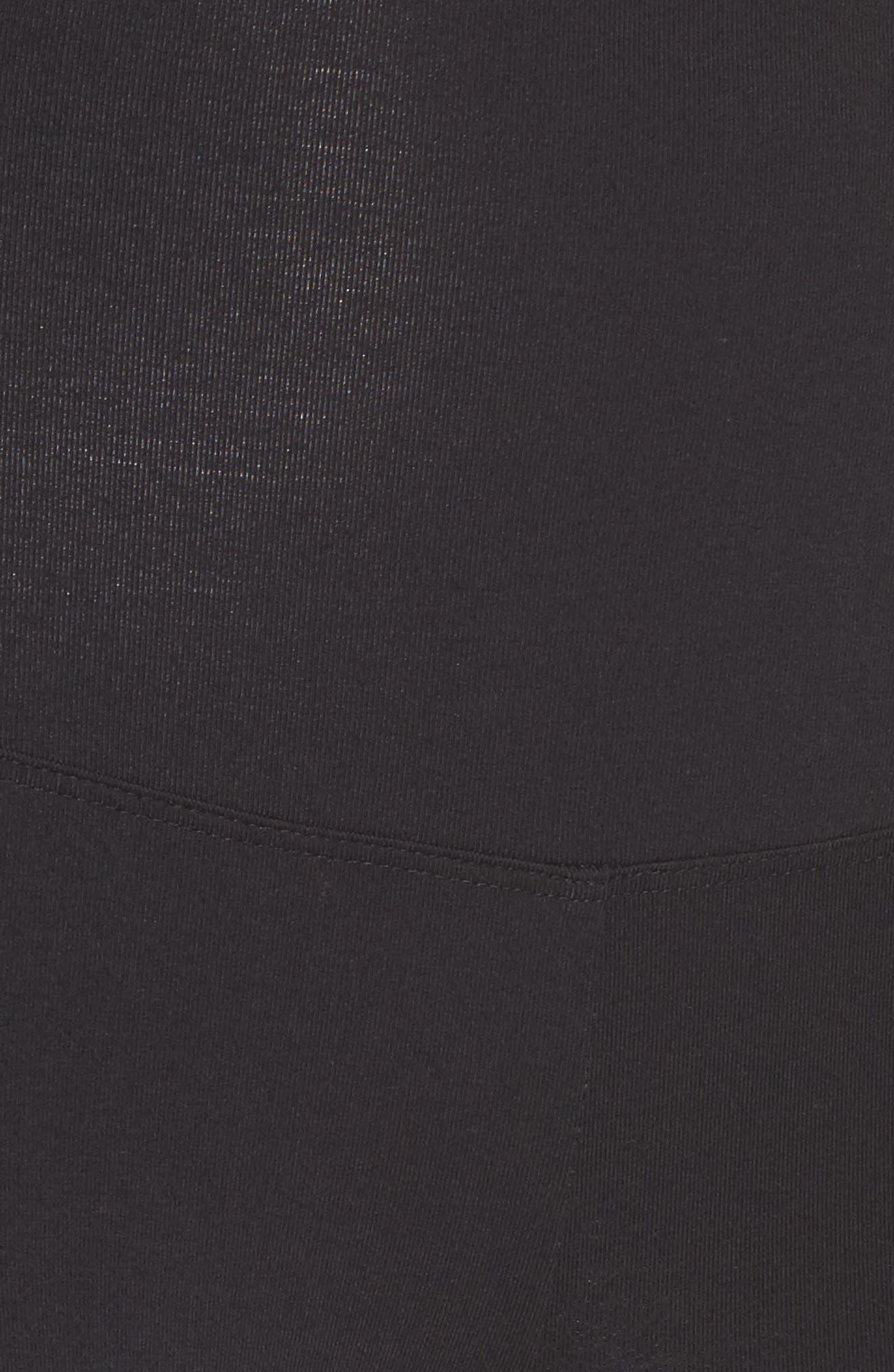 Signature High Waist Mesh Inset Leggings,                             Alternate thumbnail 5, color,                             Black