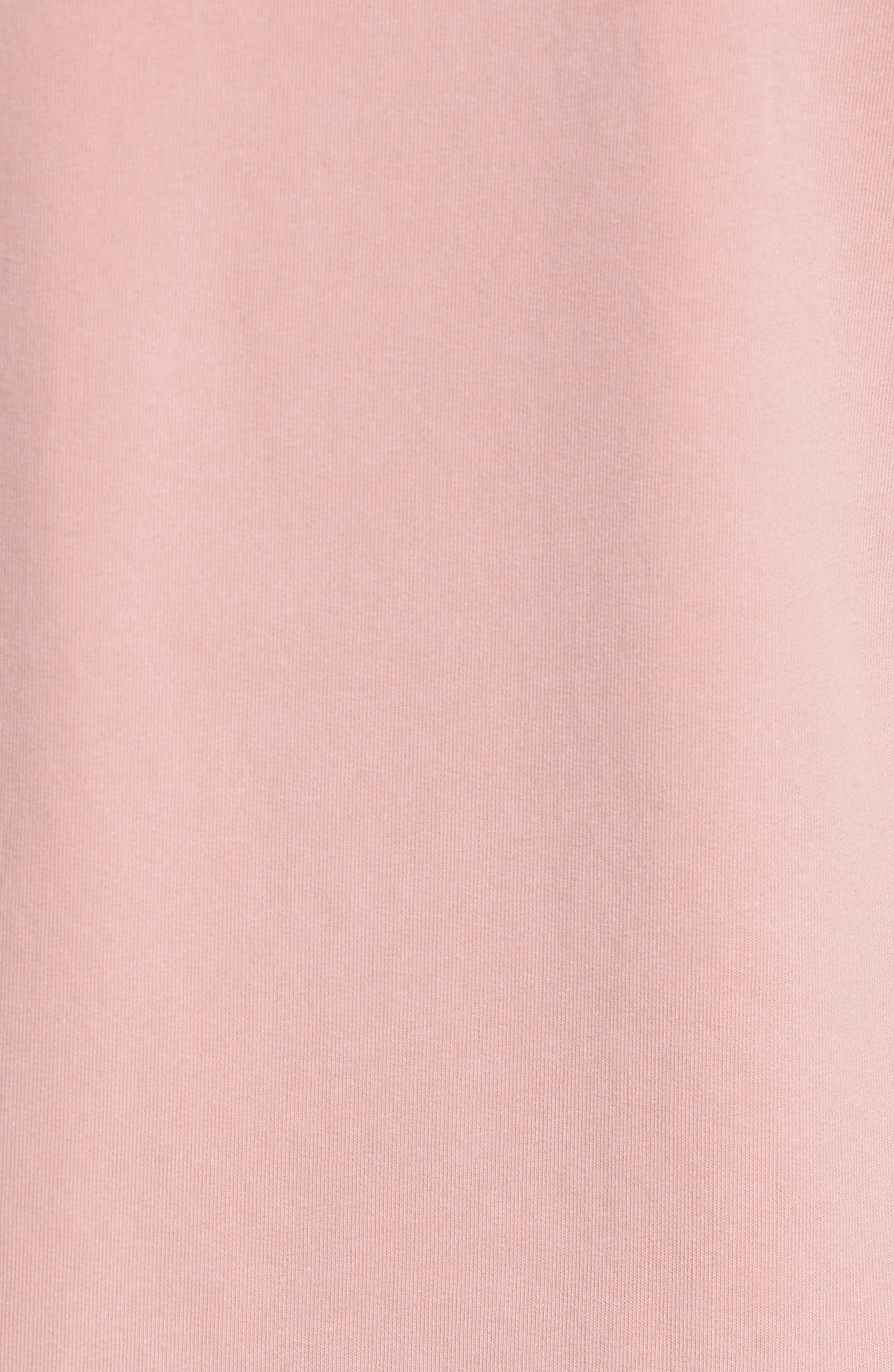 Slim Fit Crewneck Sweatshirt,                             Alternate thumbnail 5, color,                             Faded Rose