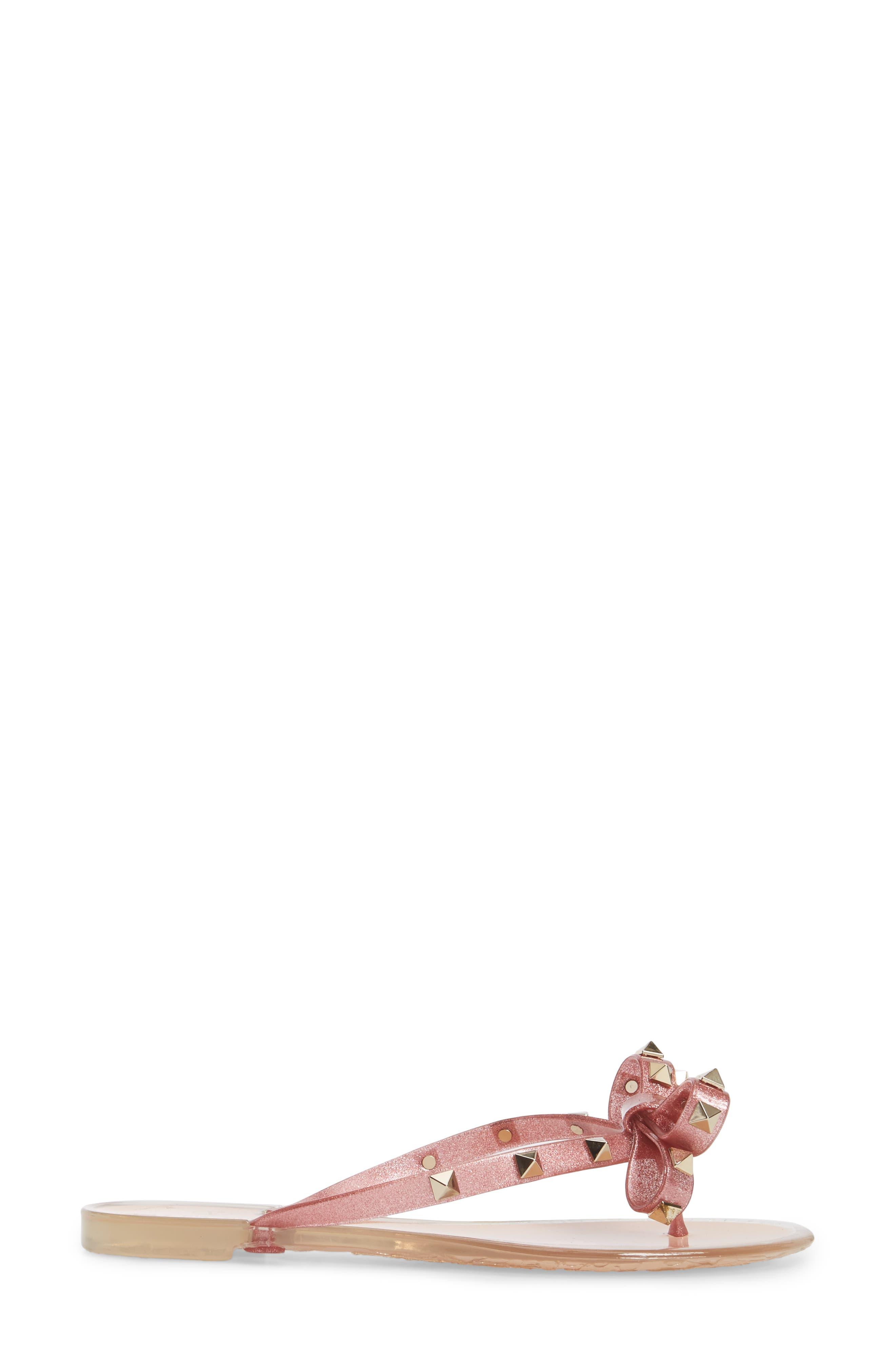 Alternate Image 3  - VALENTINO GARAVANI 'Rockstud' Flip Flop (Women)
