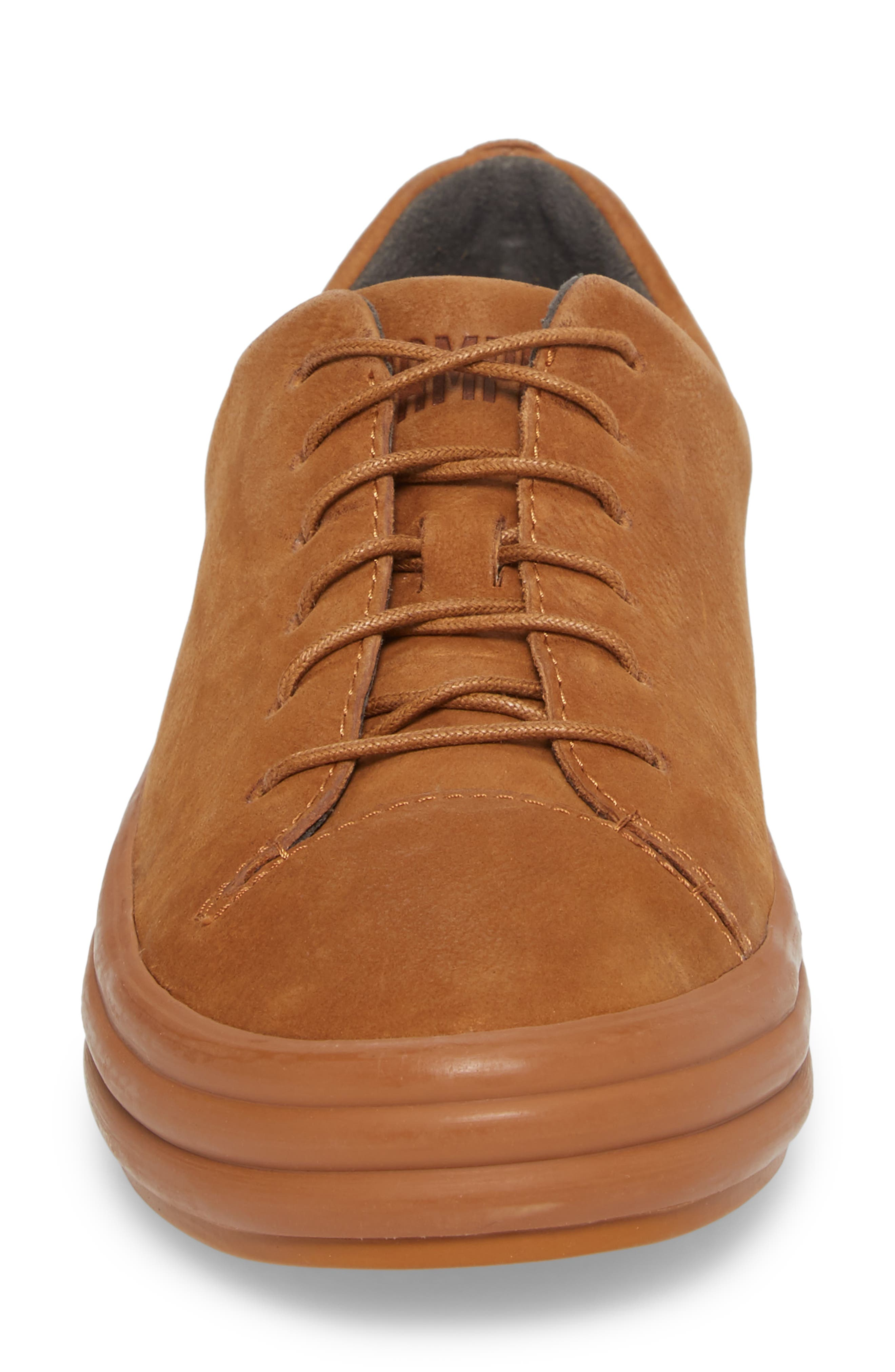 Hoops Sneaker,                             Alternate thumbnail 4, color,                             Rust/ Copper Leather